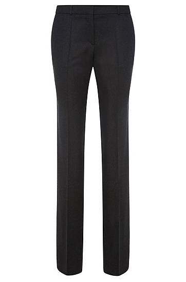 Standard-Fit Hose aus Stretch-Schurwolle: 'Tamea1', Dunkelgrau