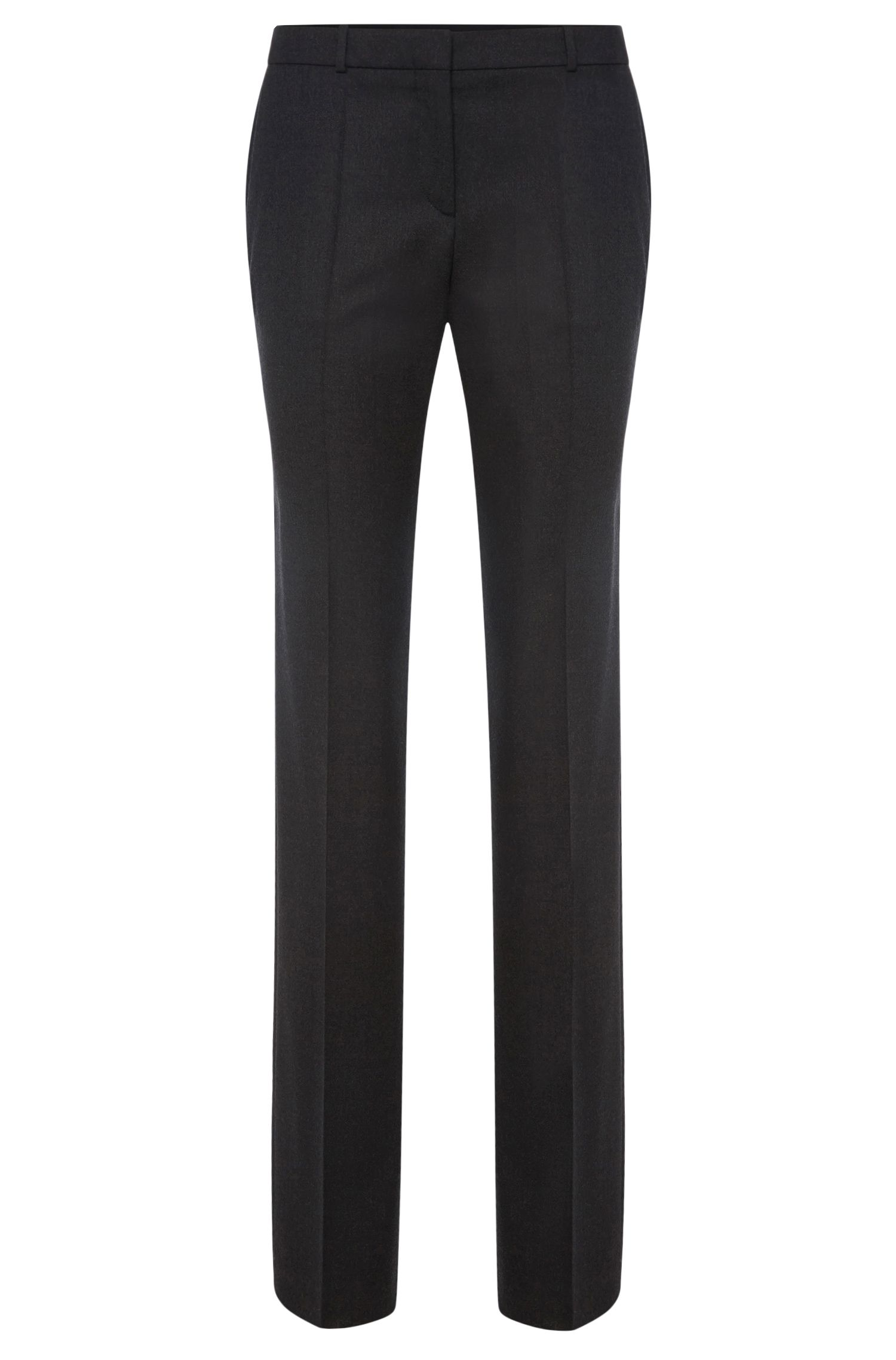 Standard-fit trousers in stretchy new wool: 'Tamea1'