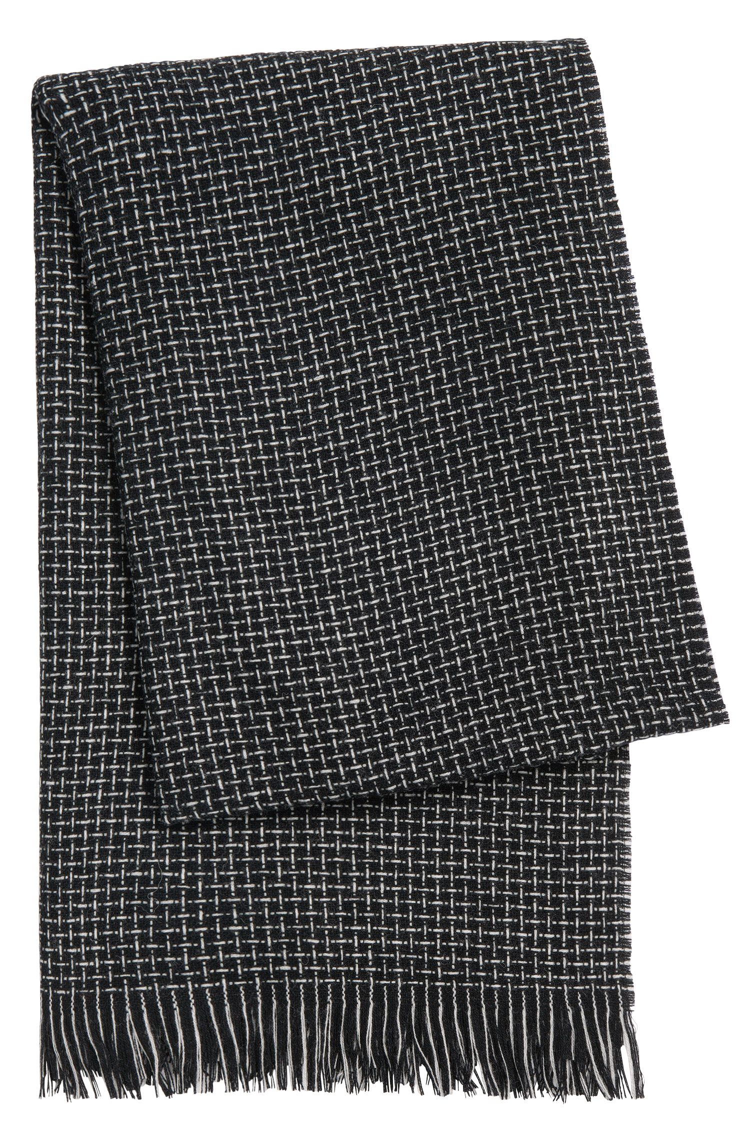 Patterned scarf in new-wool blend with cashmere: 'Lamaya'