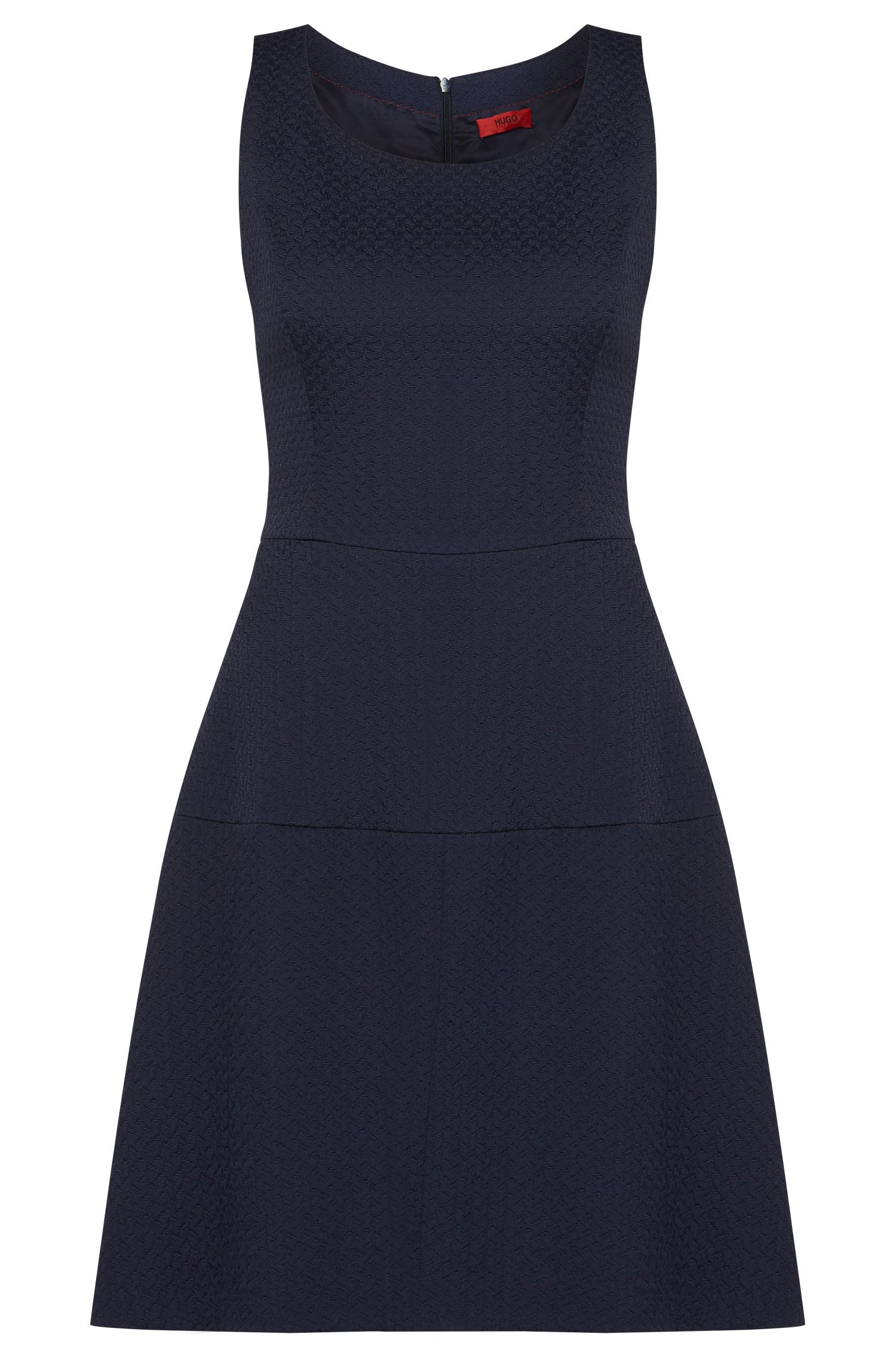 Fitted dress in cotton blend with a fine texture: 'Kine-1'