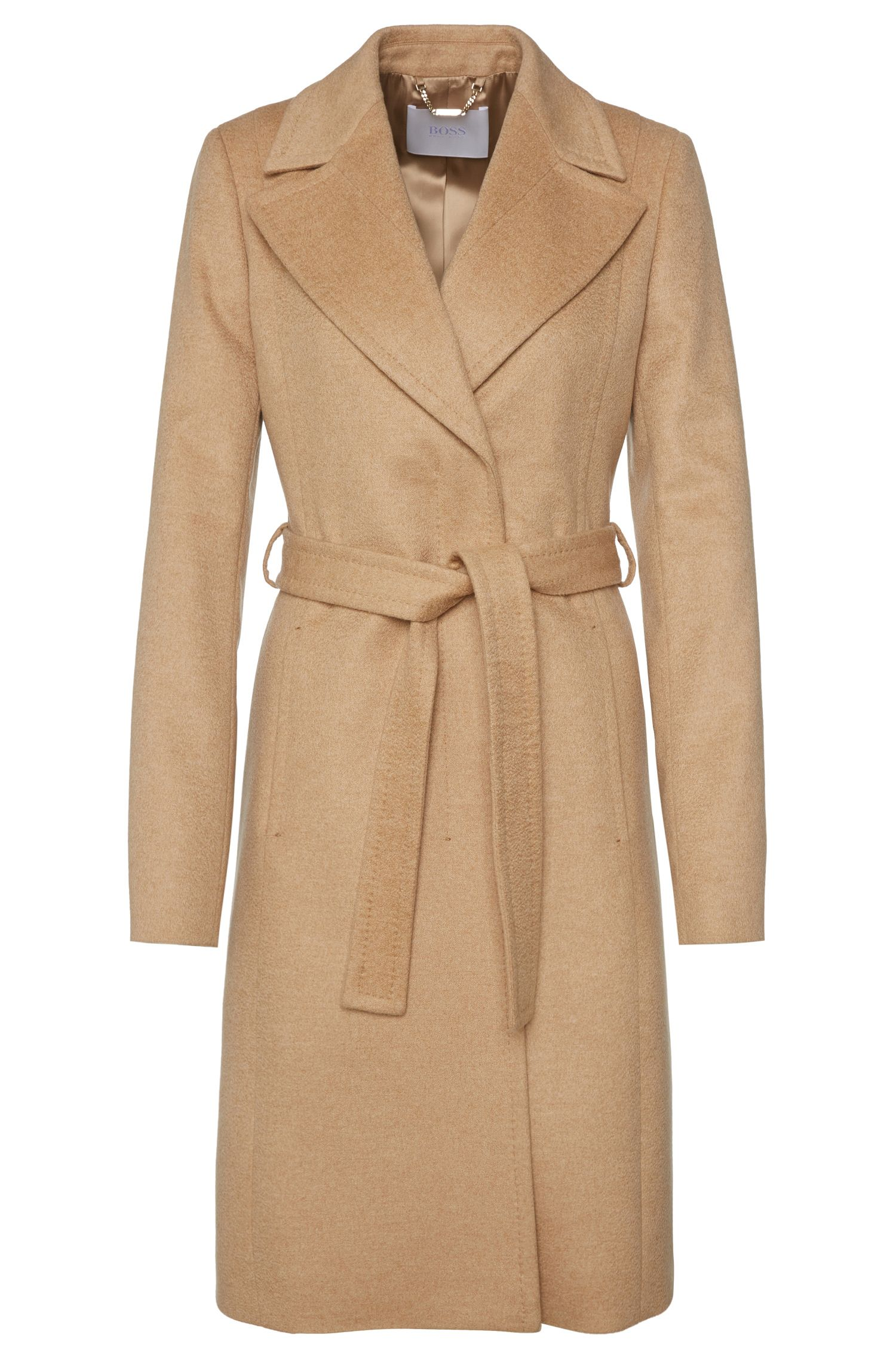 Cashmere coat with concealed button placket: 'Cabina'