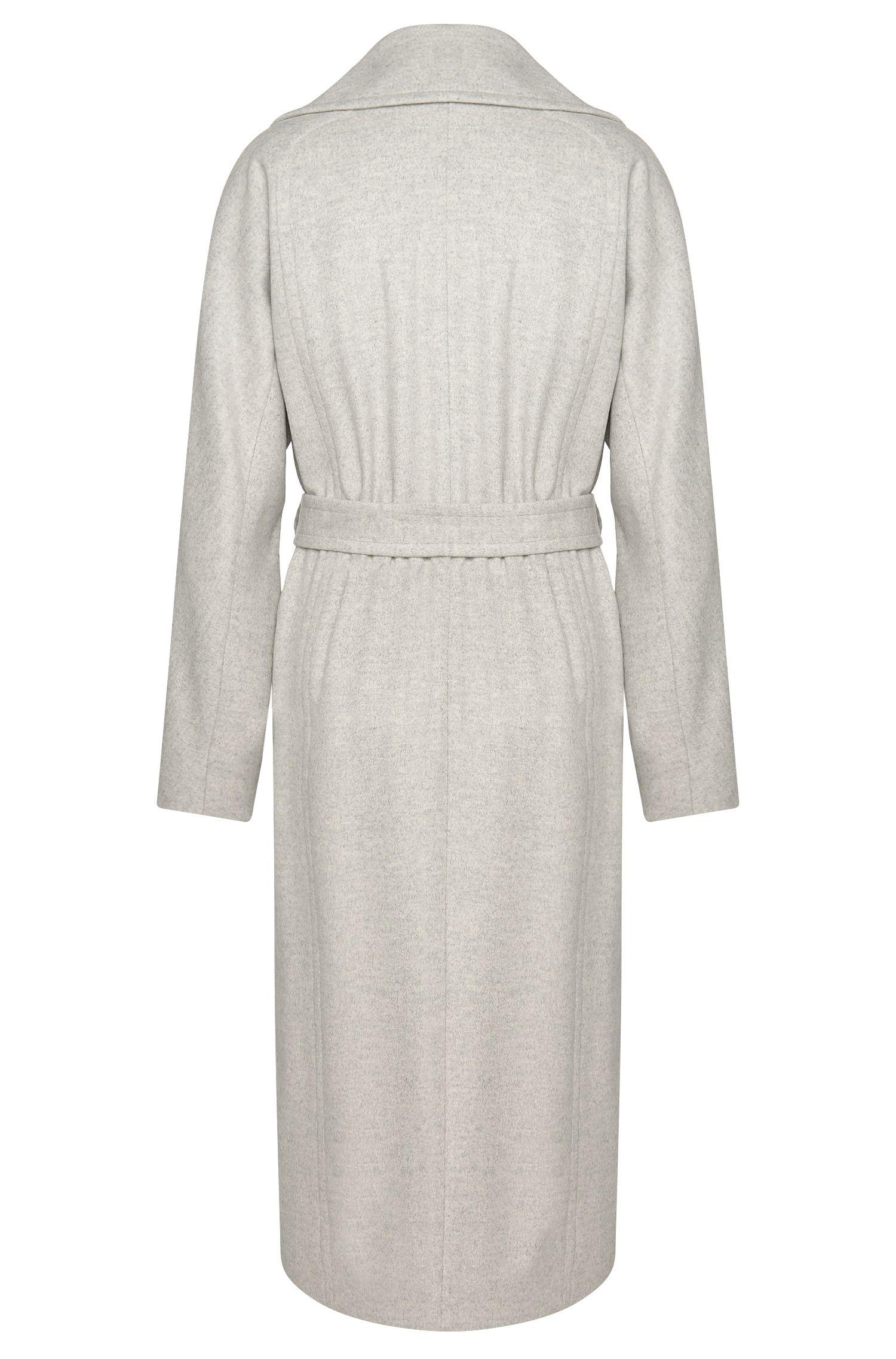 Long manteau en mélange de laine vierge et cachemire: «Cordina»