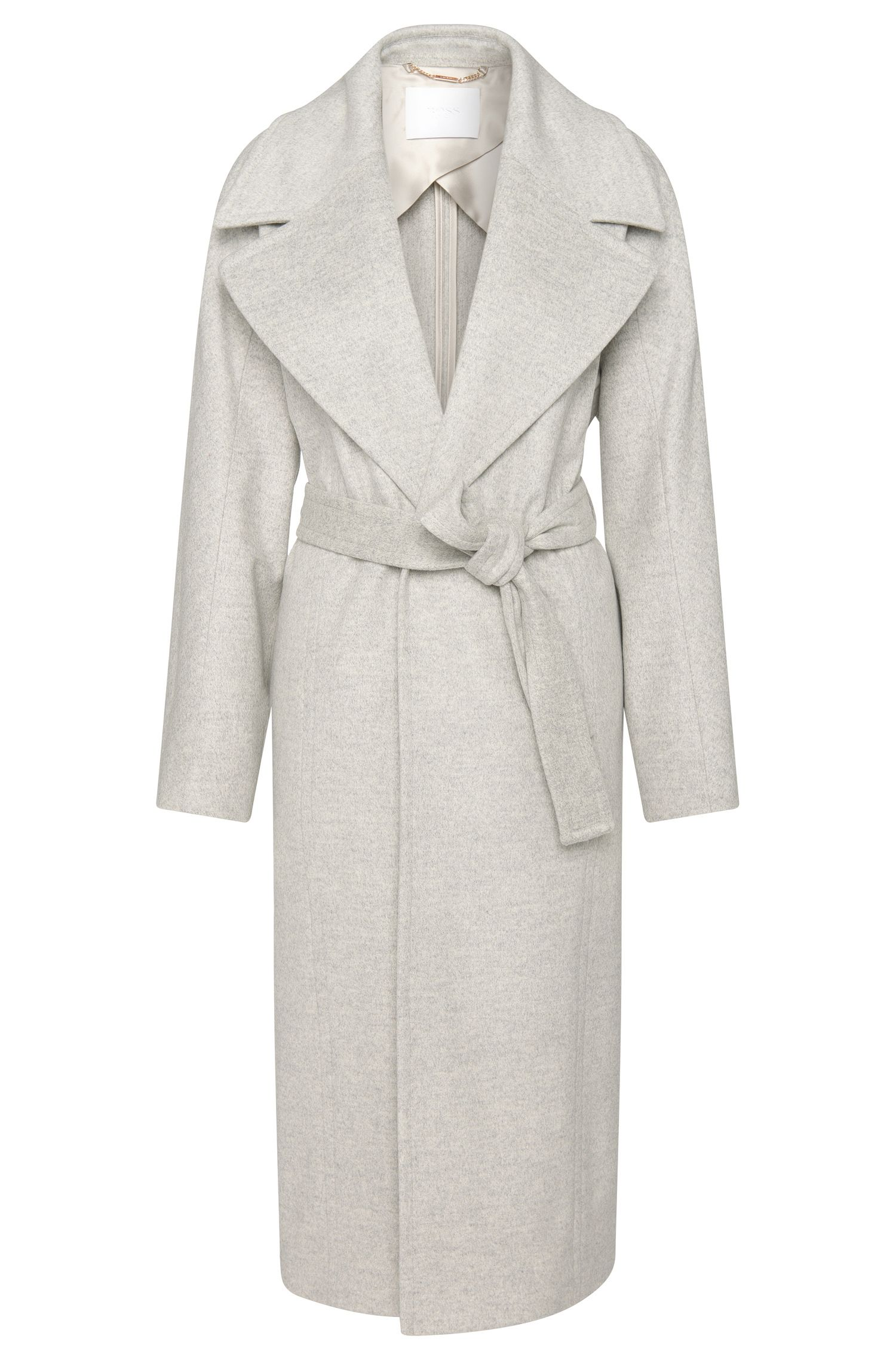 Long coat in a new-wool blend with cashmere: 'Cordina'