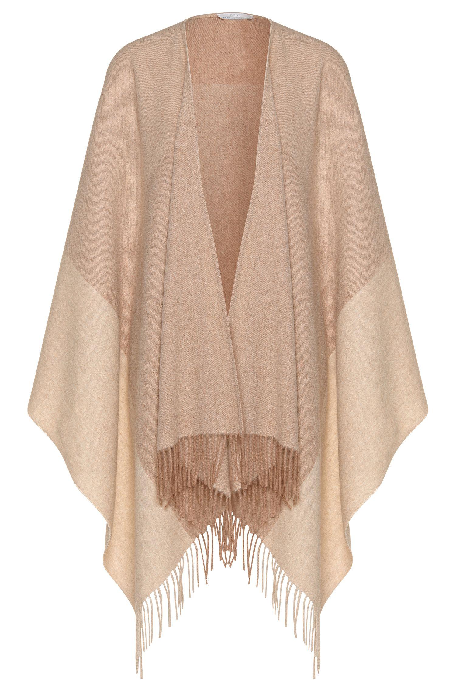 Poncho estilo manta en mezcla de lana virgen con cachemira: 'Latricia'