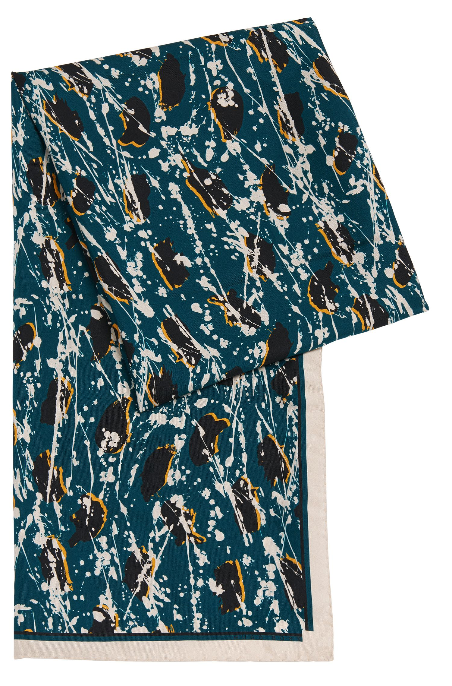 Pañuelo de seda con estampado integral: 'Lariane'