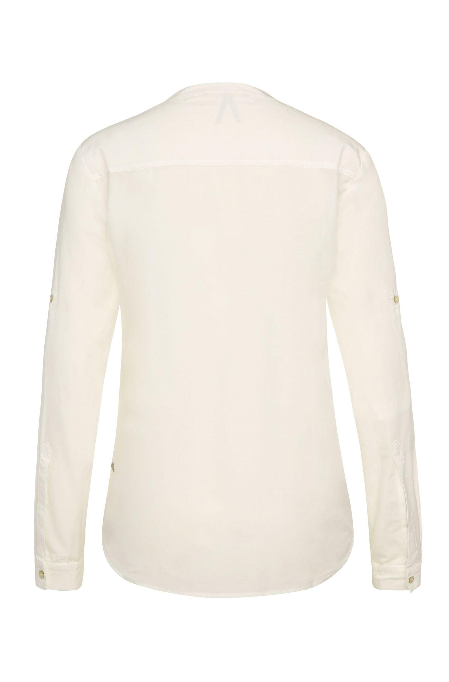 Relaxed-Fit Bluse aus Baumwoll-Mix mit Seide: ´Efelize_8`