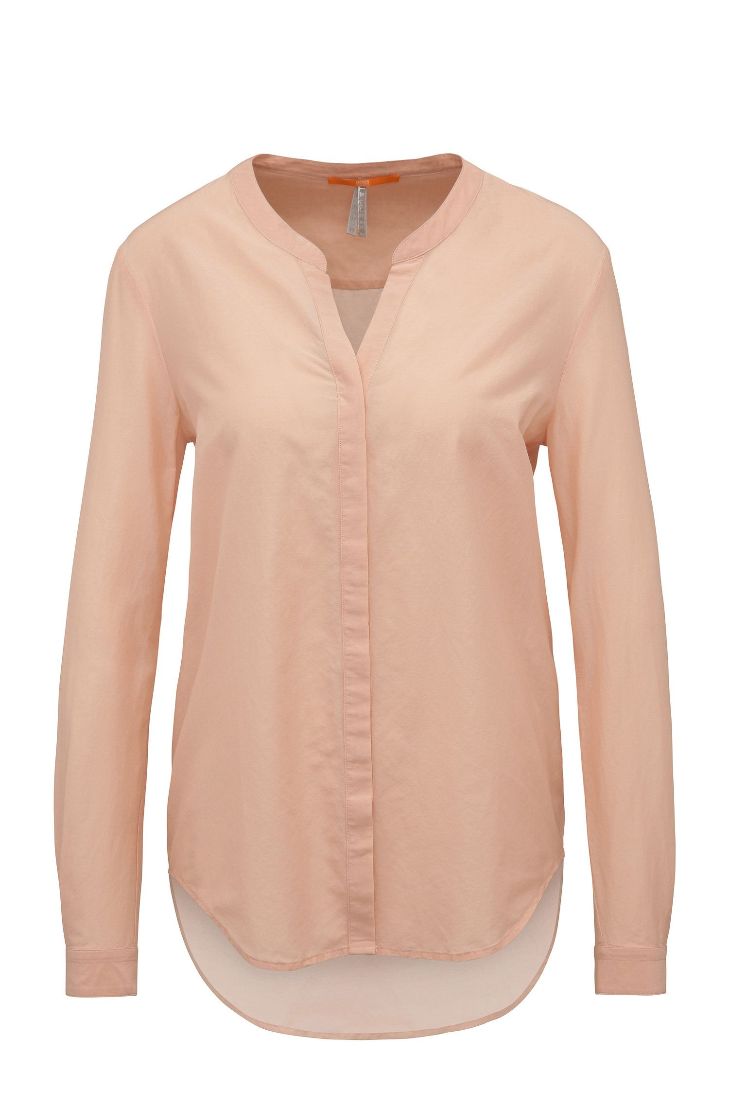 Relaxed-fit blouse van een katoenmix met zijde: 'Efelize_8'