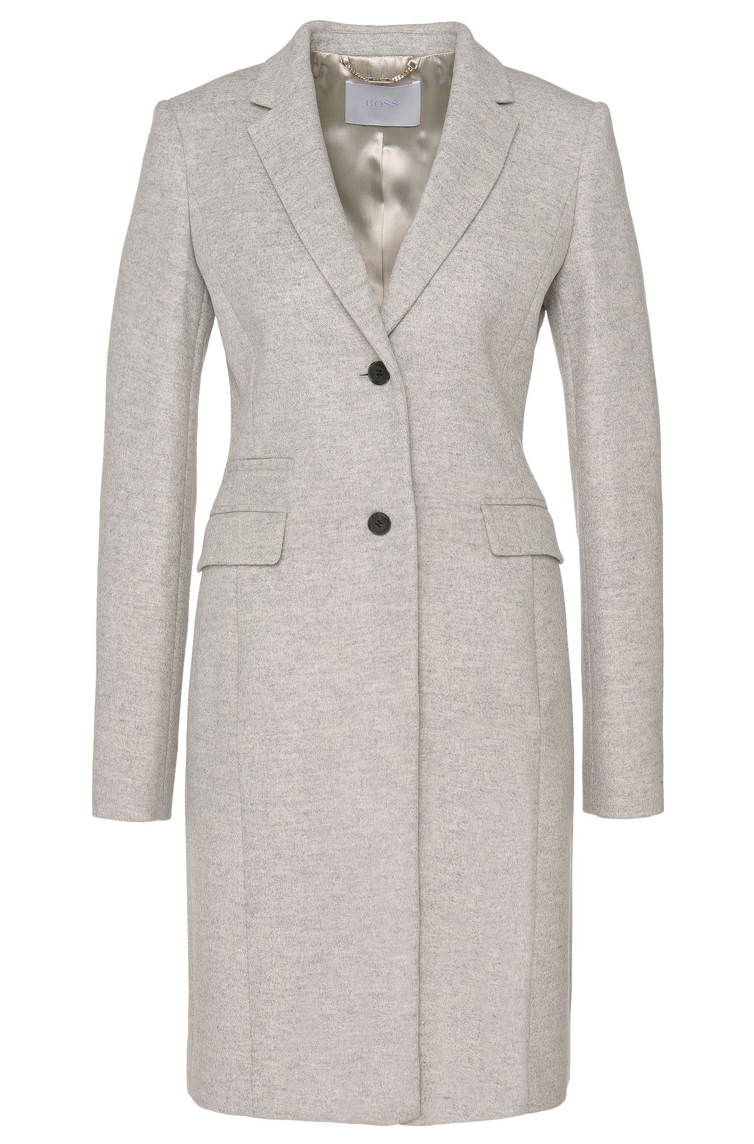 Coat in a new-wool blend with cashmere: 'Cavymia'