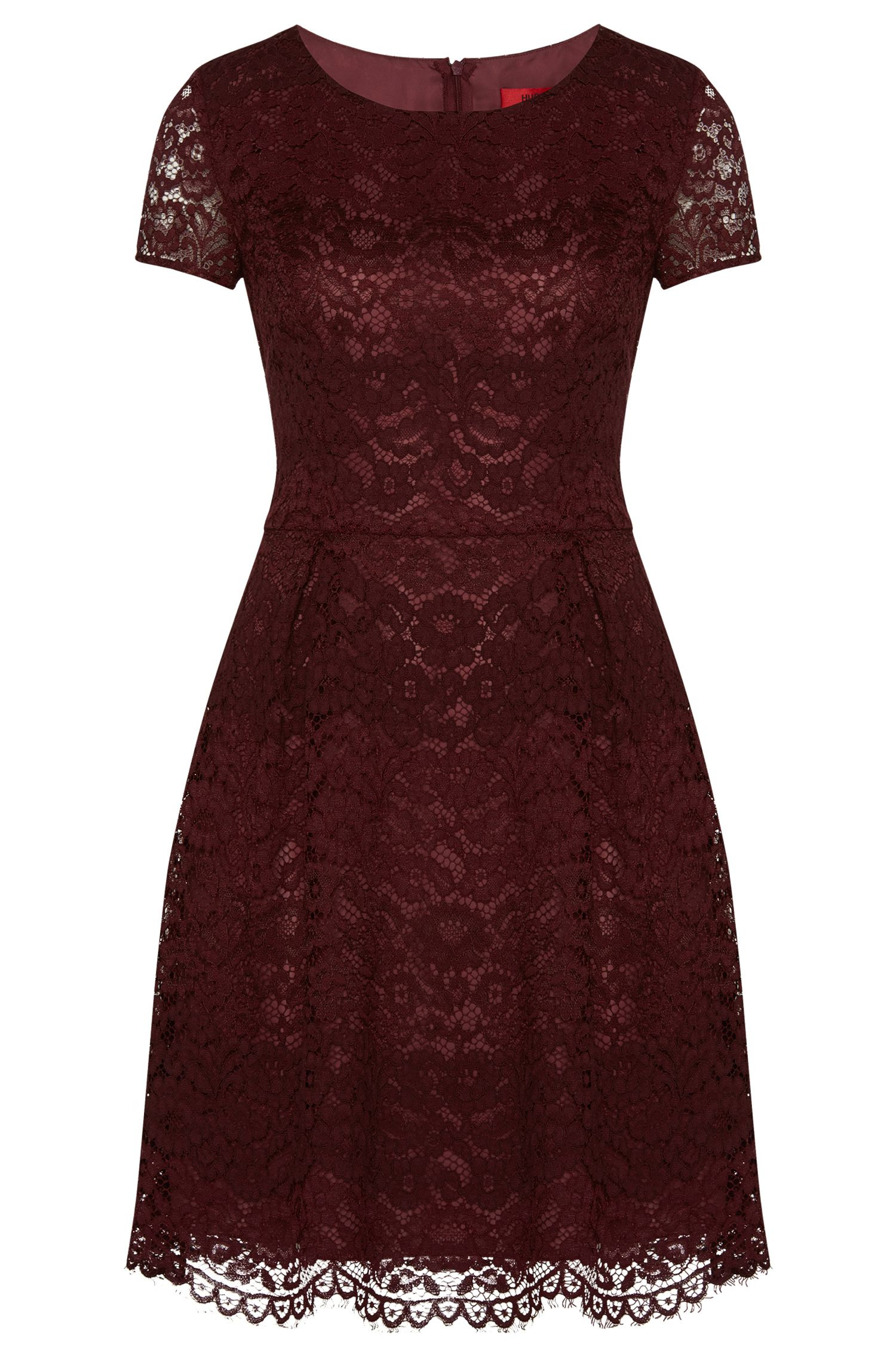 Dress with piped lace: 'Kayley-1'
