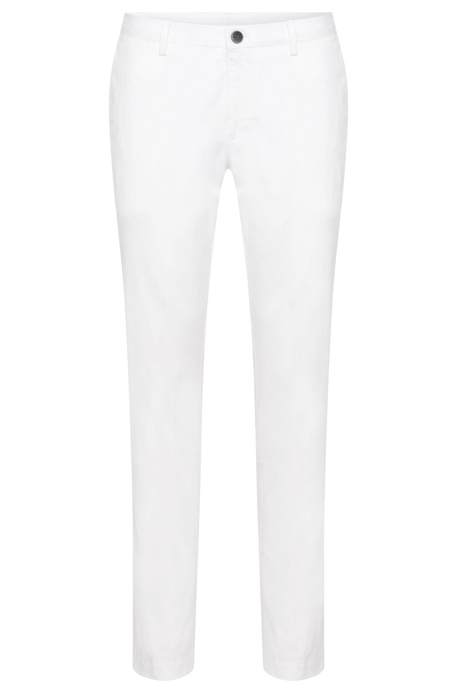 Chino slim fit in cotone elasticizzato: 'Stanino15-W'