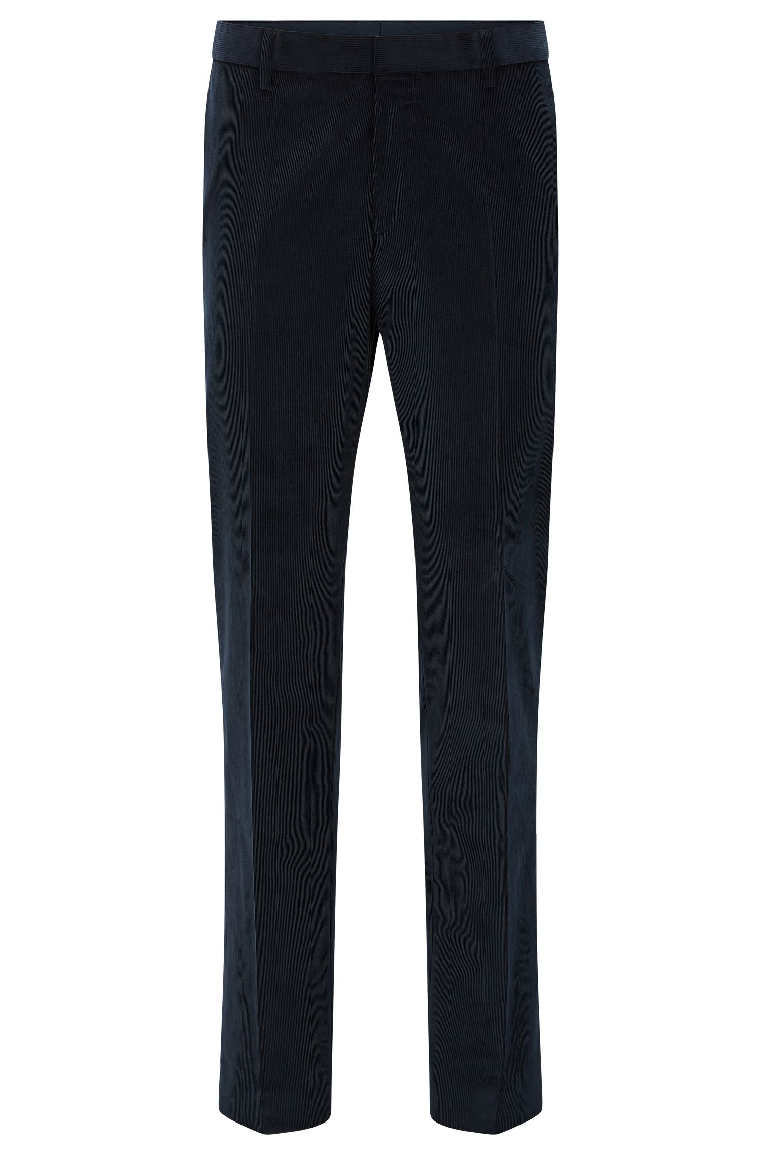 Pantalon en velours côtelé Slim Fit en coton stretch : « Genesis2 »