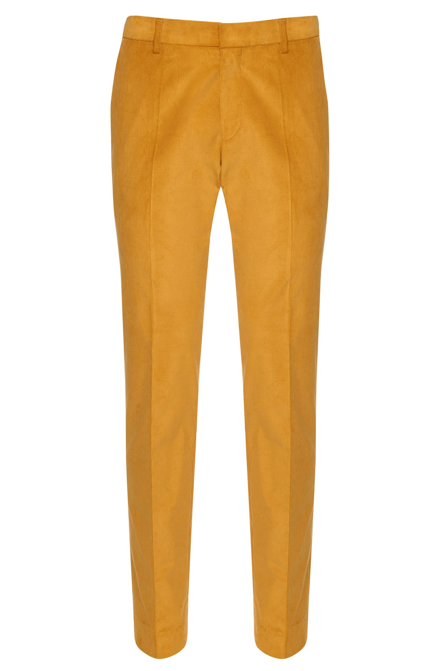 Slim-fit cord trousers in stretch cotton: 'Genesis2'