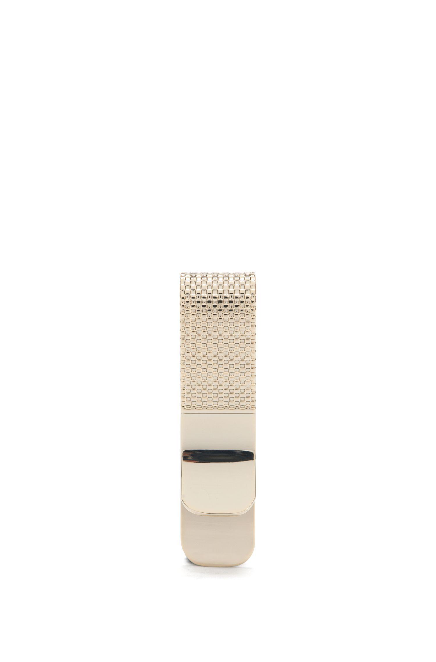Pince à billets au design galbé en laiton: «E-Luxury-Money Clip»