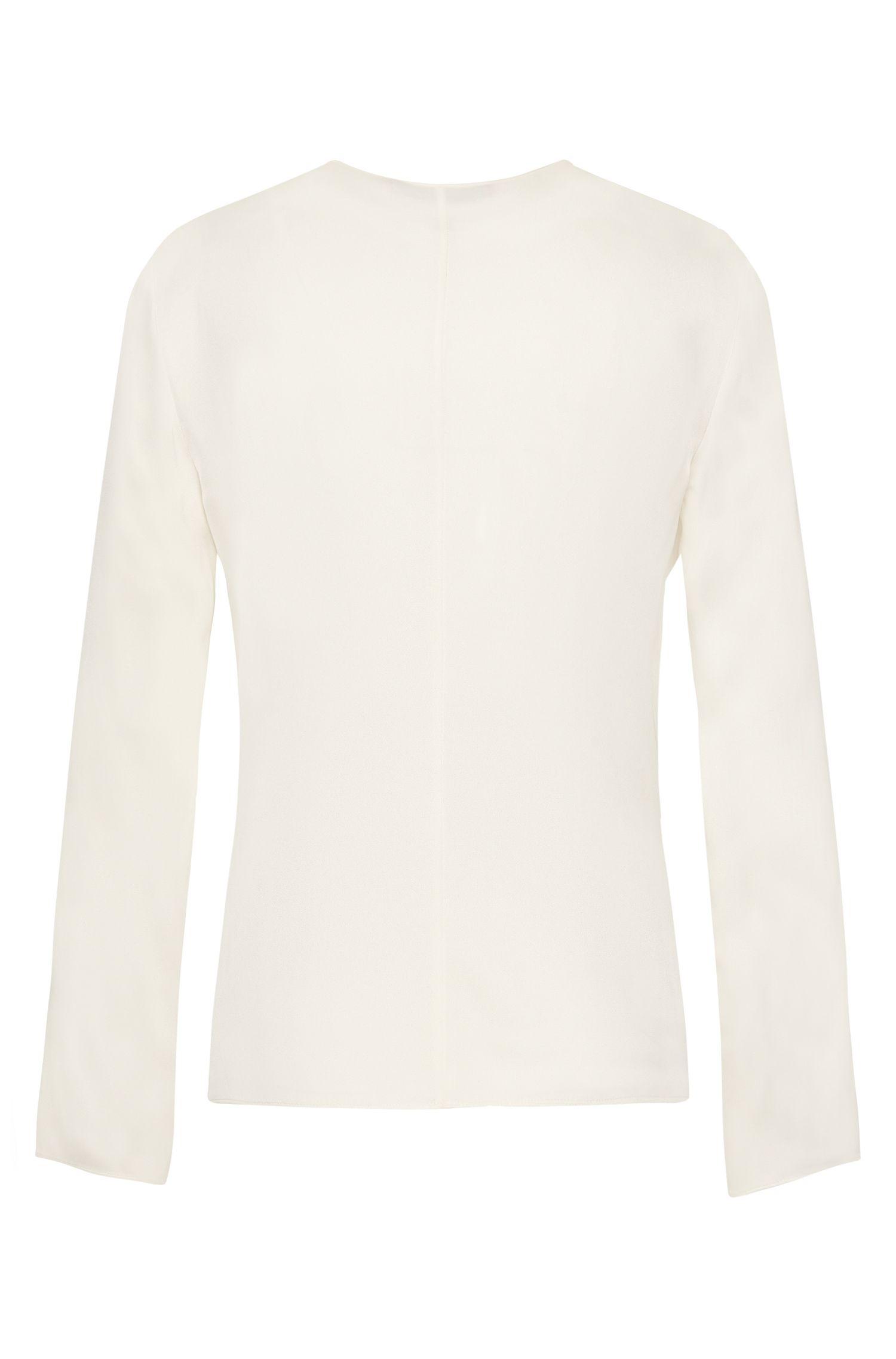 Bluse aus Stretch-Seide mit verdeckter Knopfleiste: 'Cillia-2'