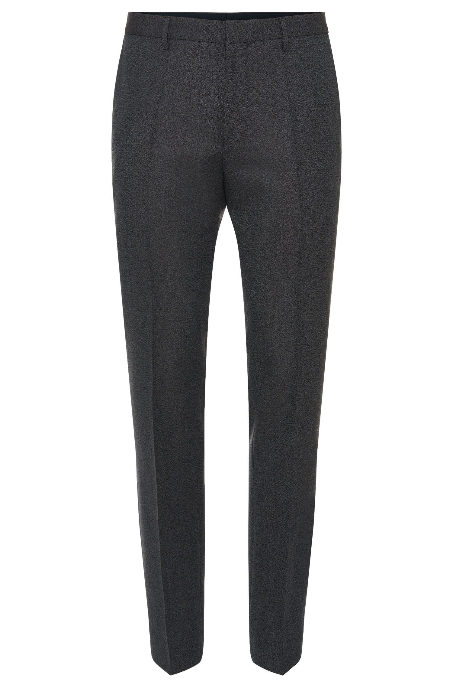 Pantalón jaspeado slim fit en mezcla de lana virgen: 'Giro3'