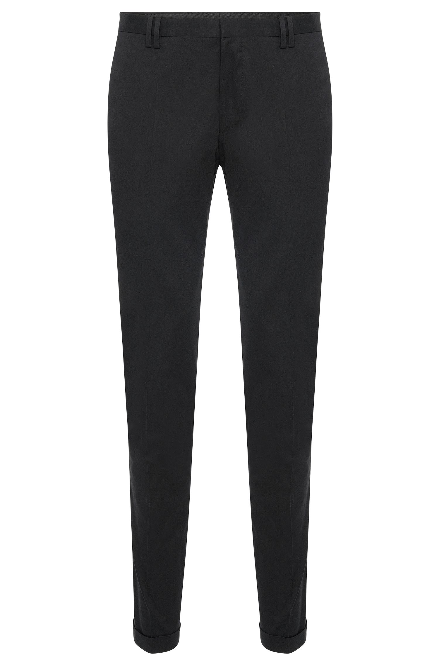 Slim-fit trousers with turned-up cuffs: 'Bendix'