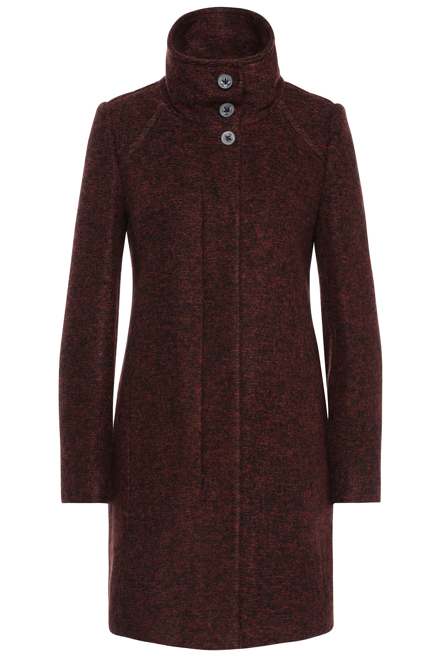 Coat in mottled fabric blend with new wool: 'Okirana4'