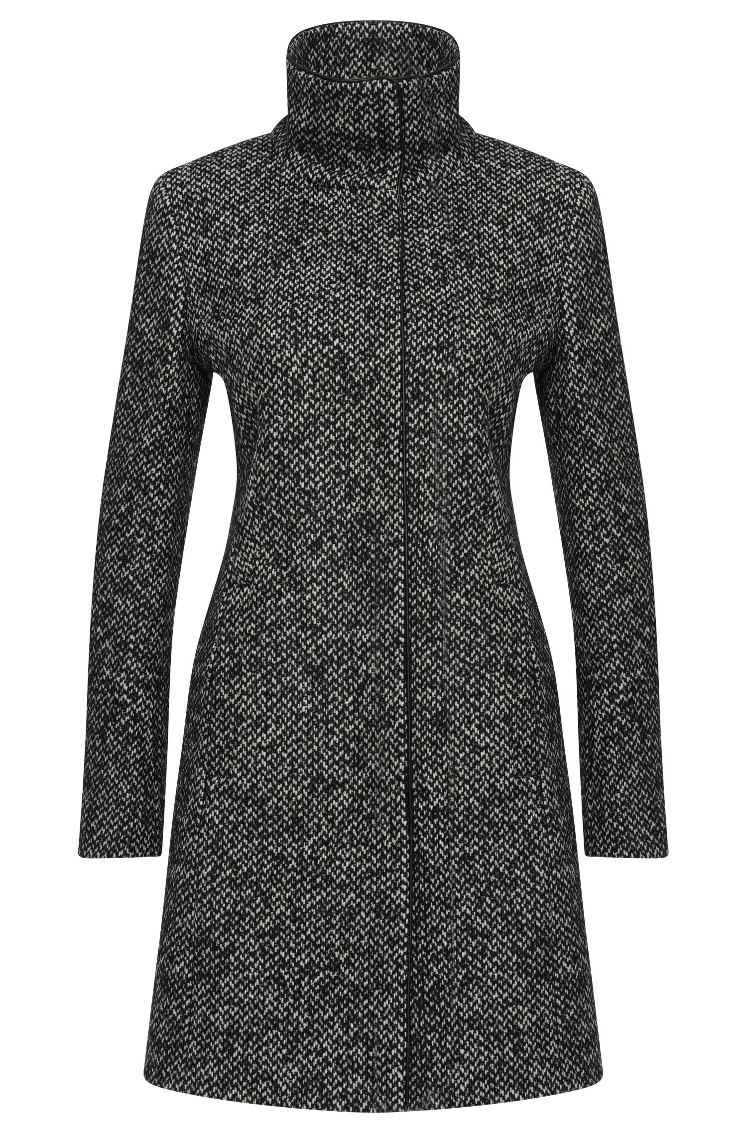 Mottled coat in wool blend: 'Maluba'