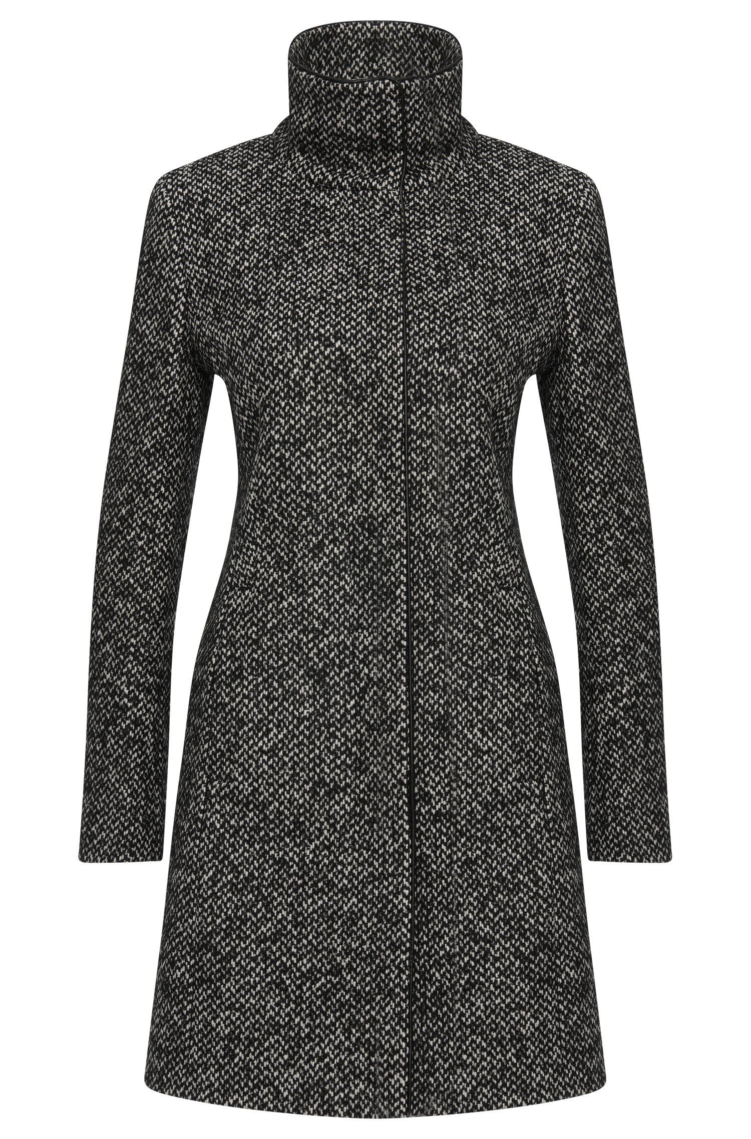 Melierter Mantel aus Woll-Mix: 'Maluba'