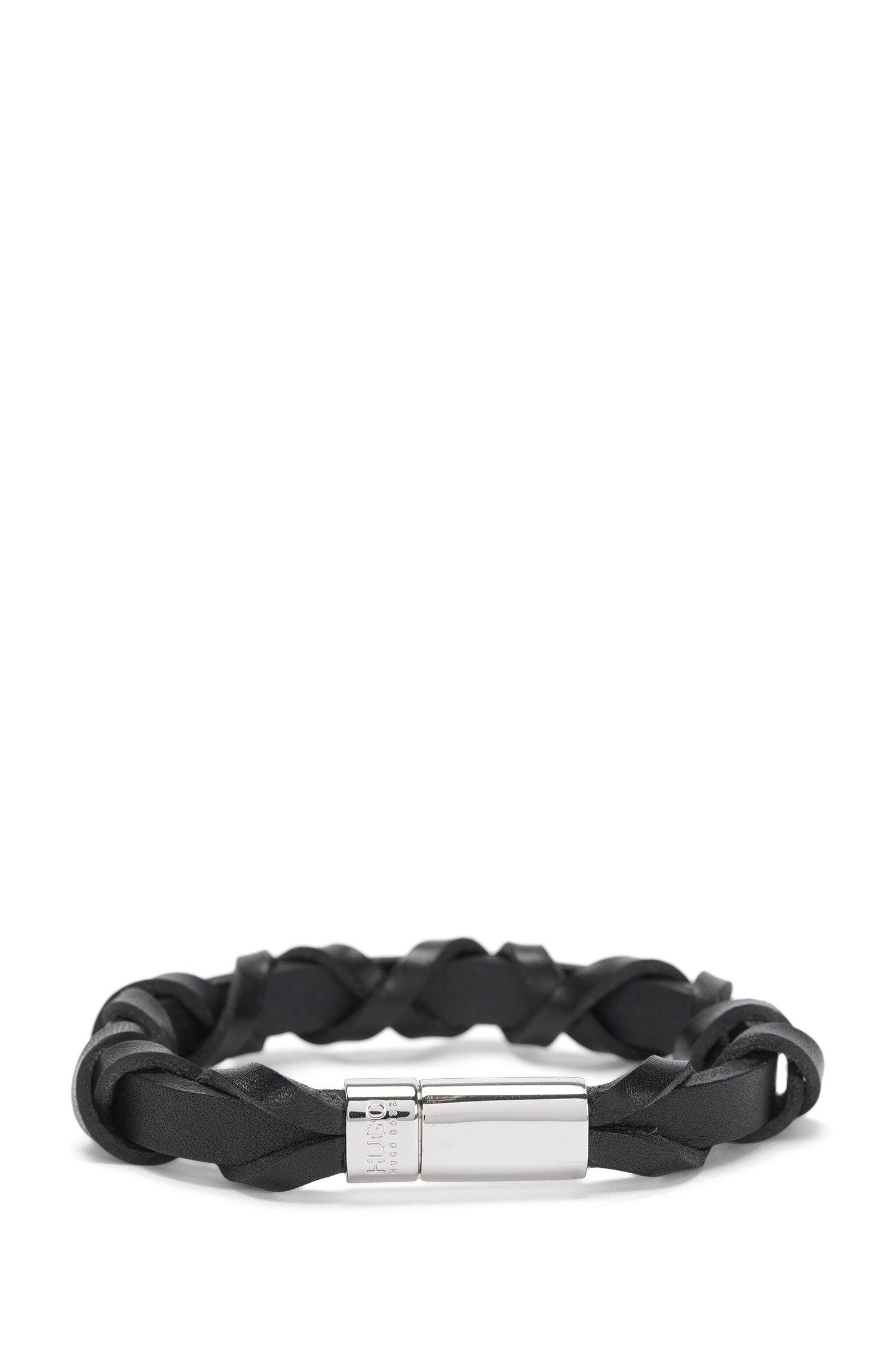 Bracelet en cuir à fermoir aimanté: «E-CROSS»