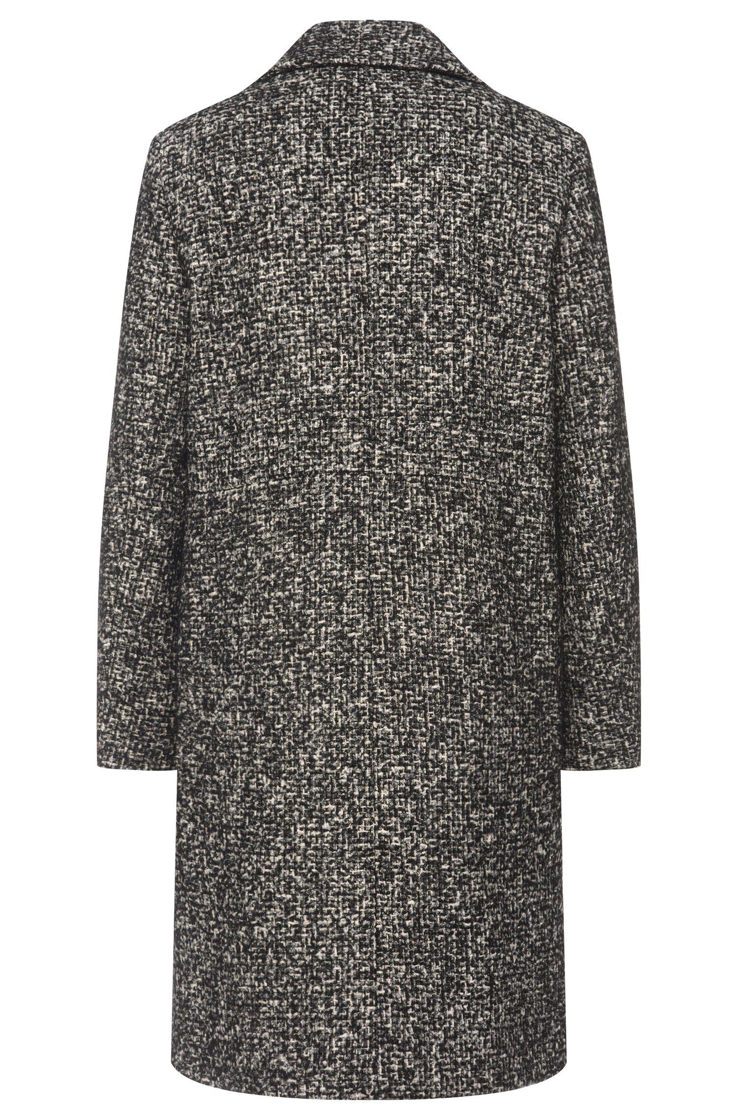 Grob melierter Mantel aus Baumwoll-Mix mit Wolle und Seide: 'Mellis'