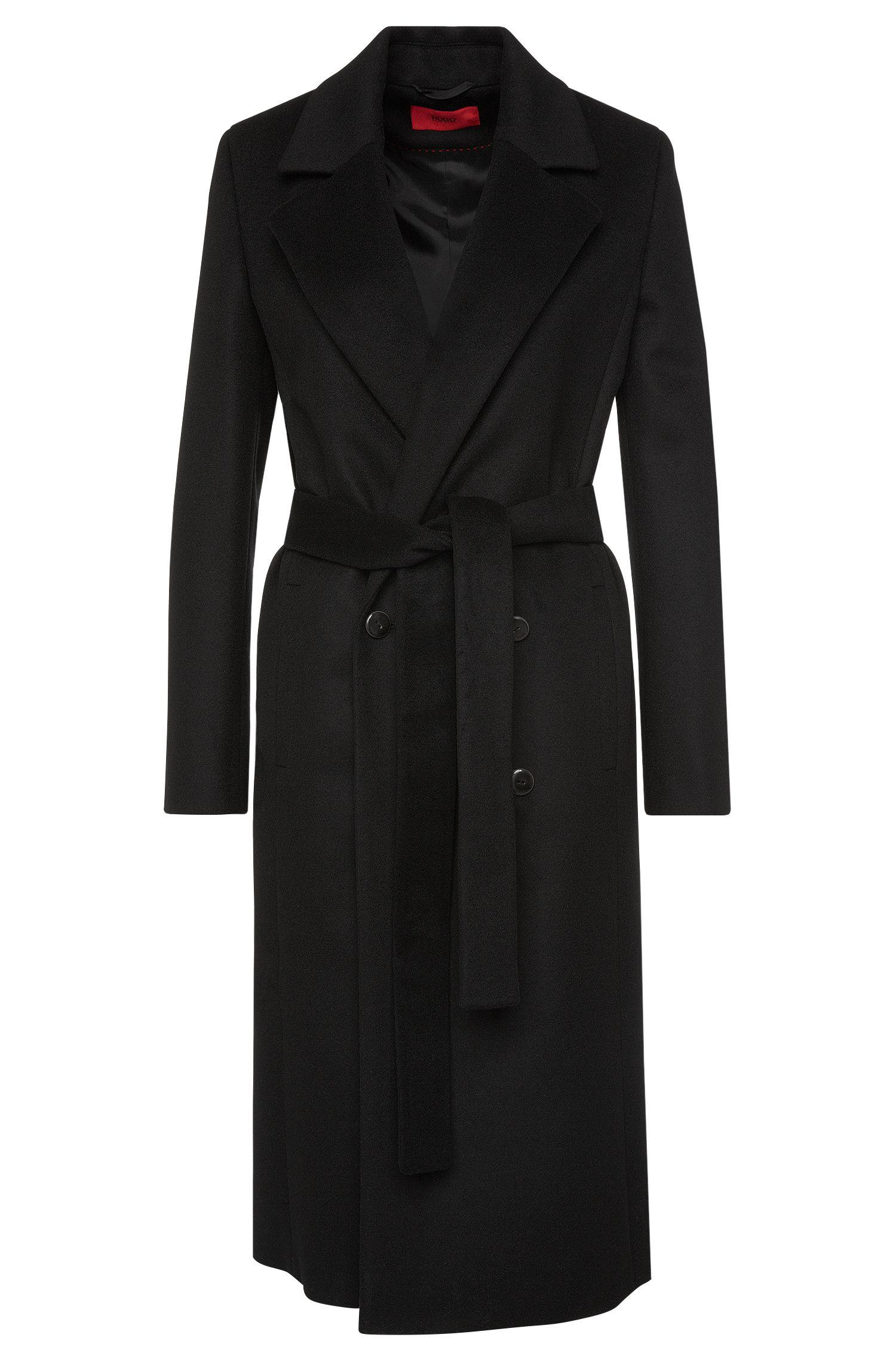 Abrigo en mezcla de lana virgen con cachemira: 'Moona'