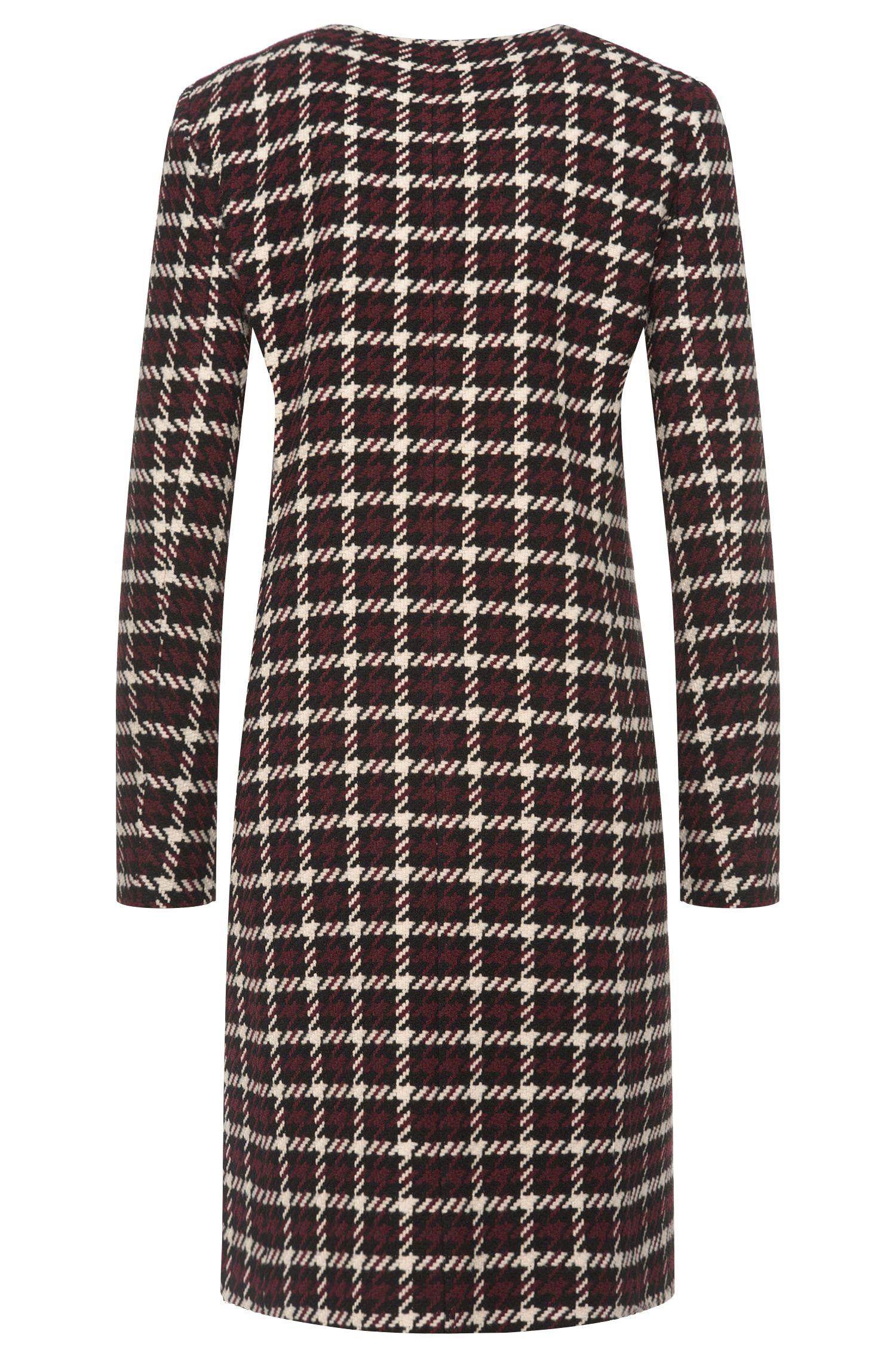 Gerade geschnittener Mantel mit Hahnentritt-Muster: 'Mesila'