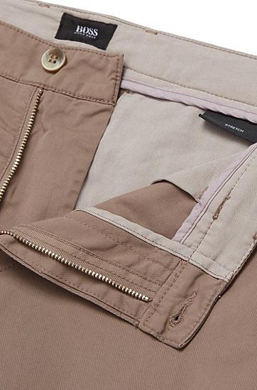 Unifarbene Regular-Fit Chino aus Stretch-Baumwolle: 'Crigan3-D', Beige