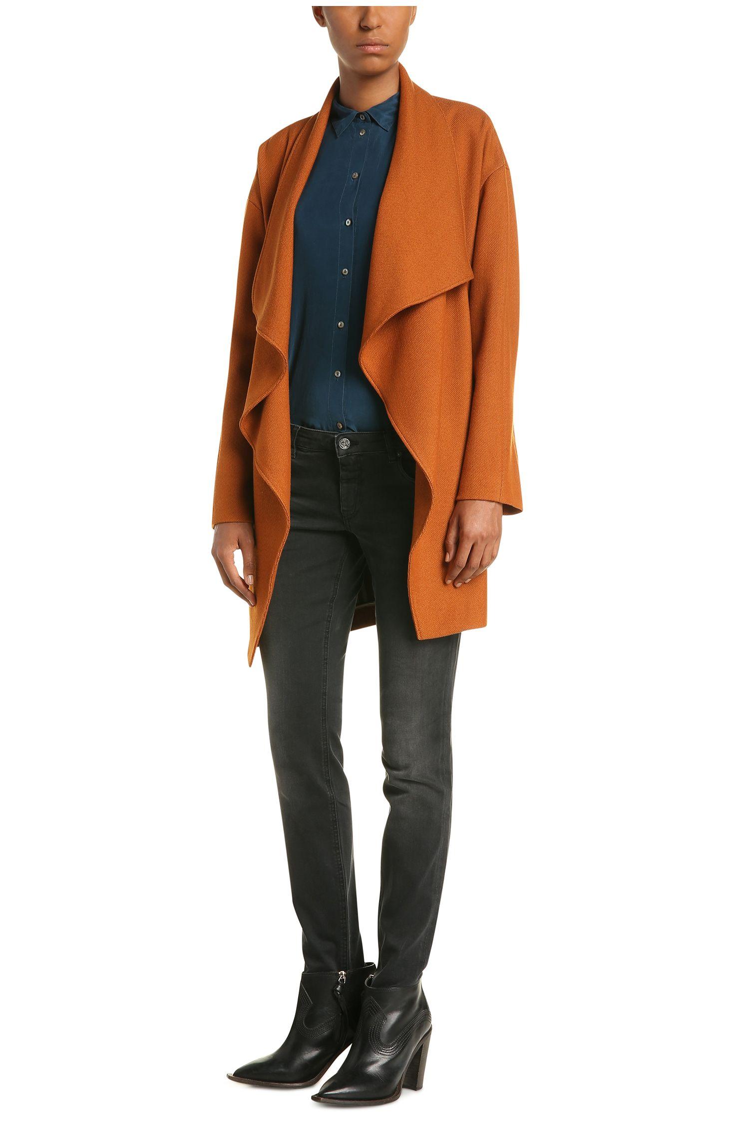 Jeans Slim Fit délavé en coton extensible mélangé: «Orange J20 Berlin»