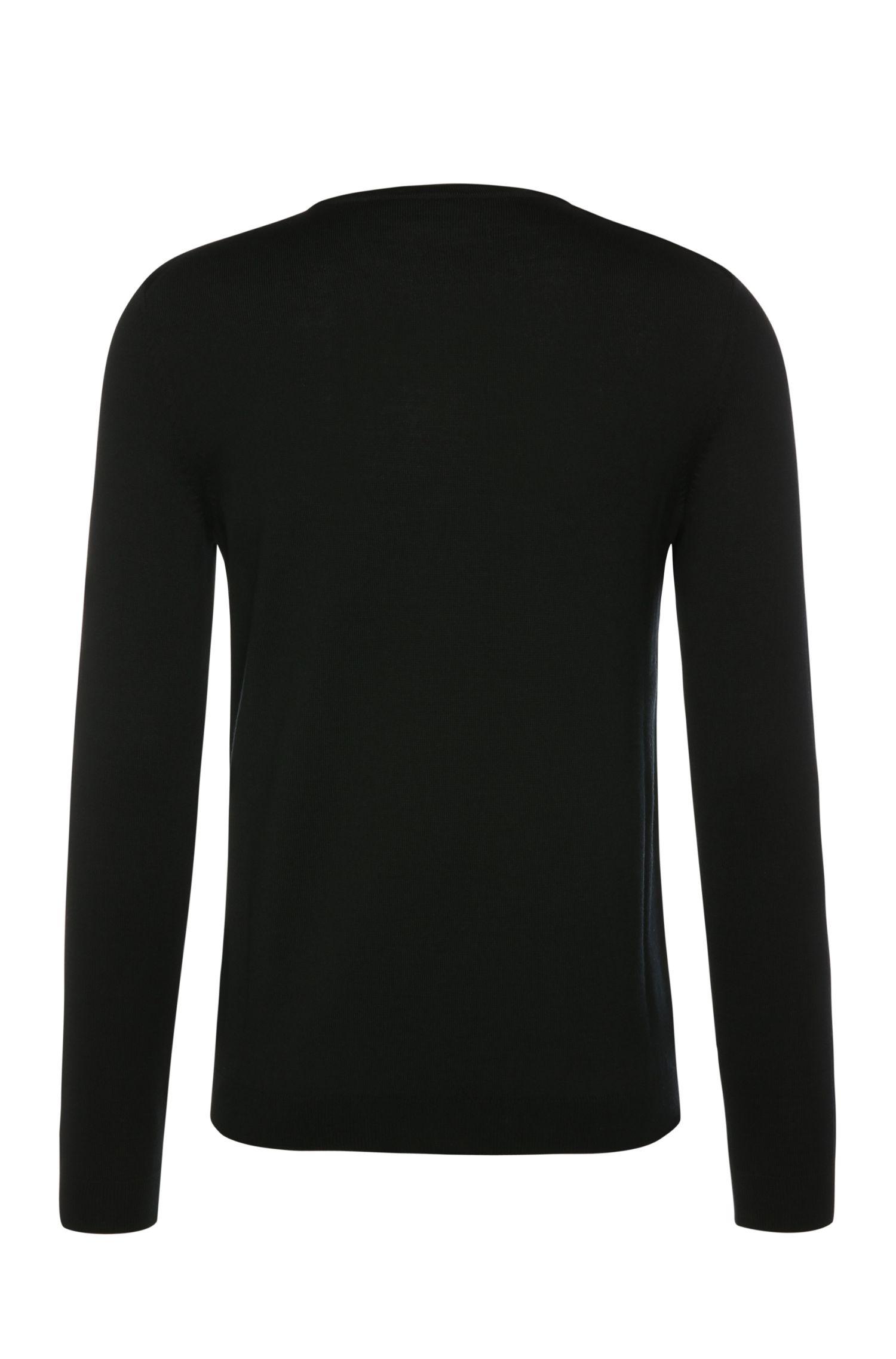 Slim-fit trui van nieuwe scheerwol in merinokwaliteit: 'C-Coby_01'