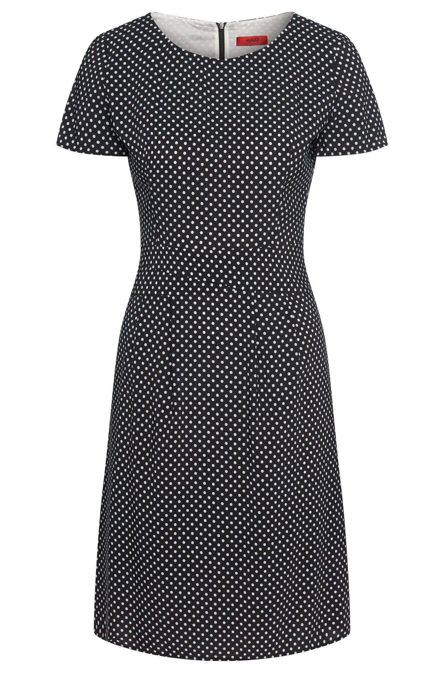 Gepunktetes Kleid aus elastischer Viskose: 'Kalila'