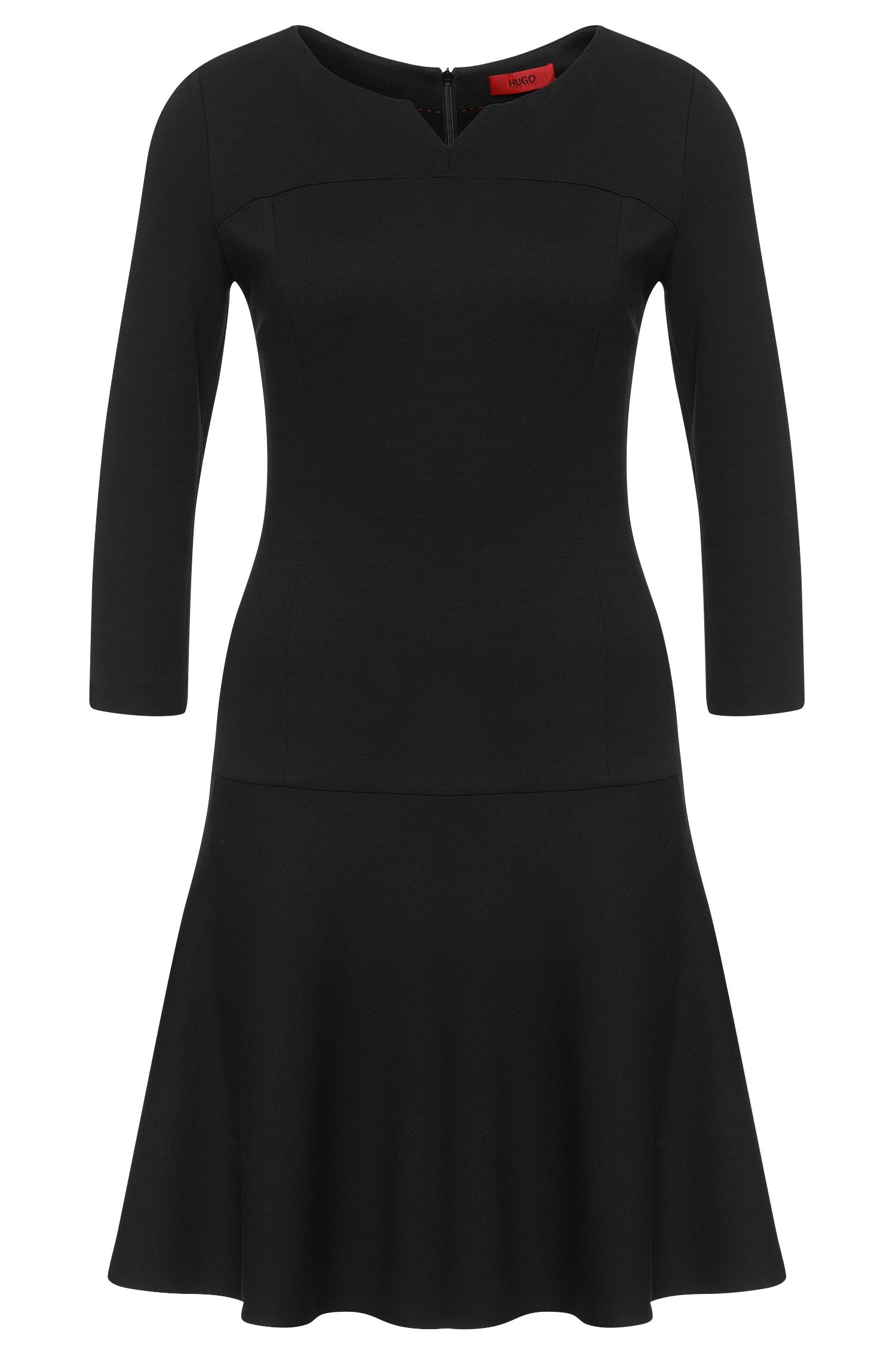 Dress in stretch viscose with low waist: 'Kyrene'