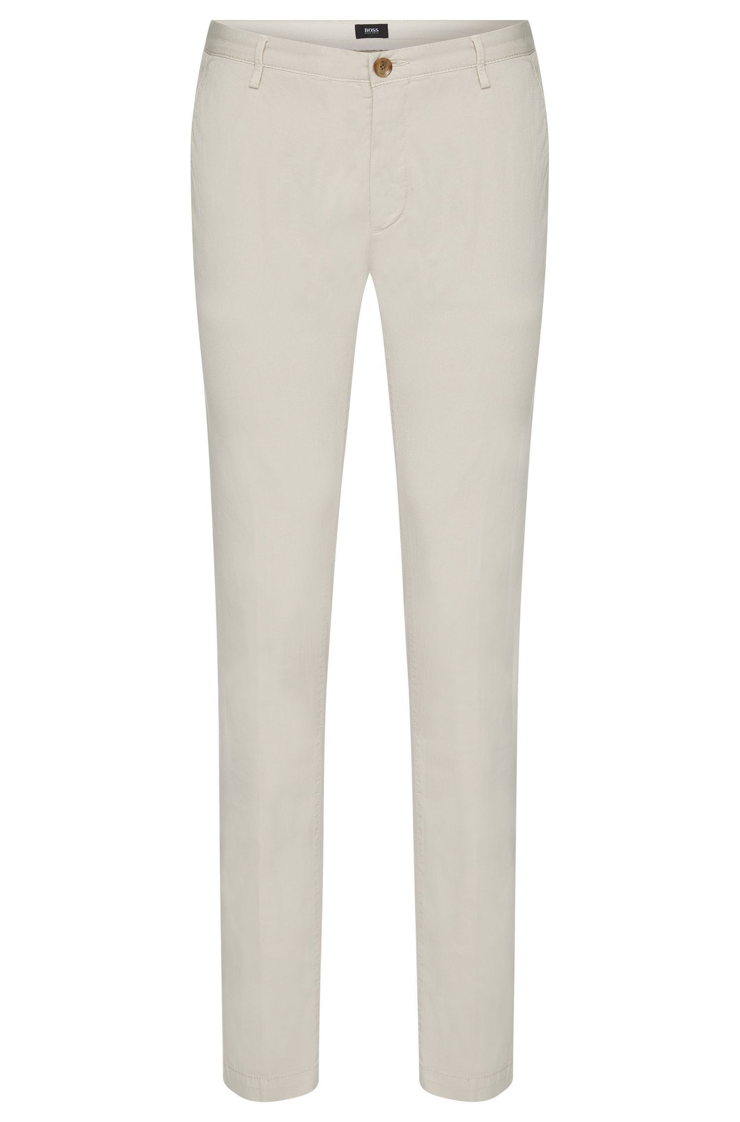 Chino slim fit in cotone elasticizzato: 'Rice3-D'