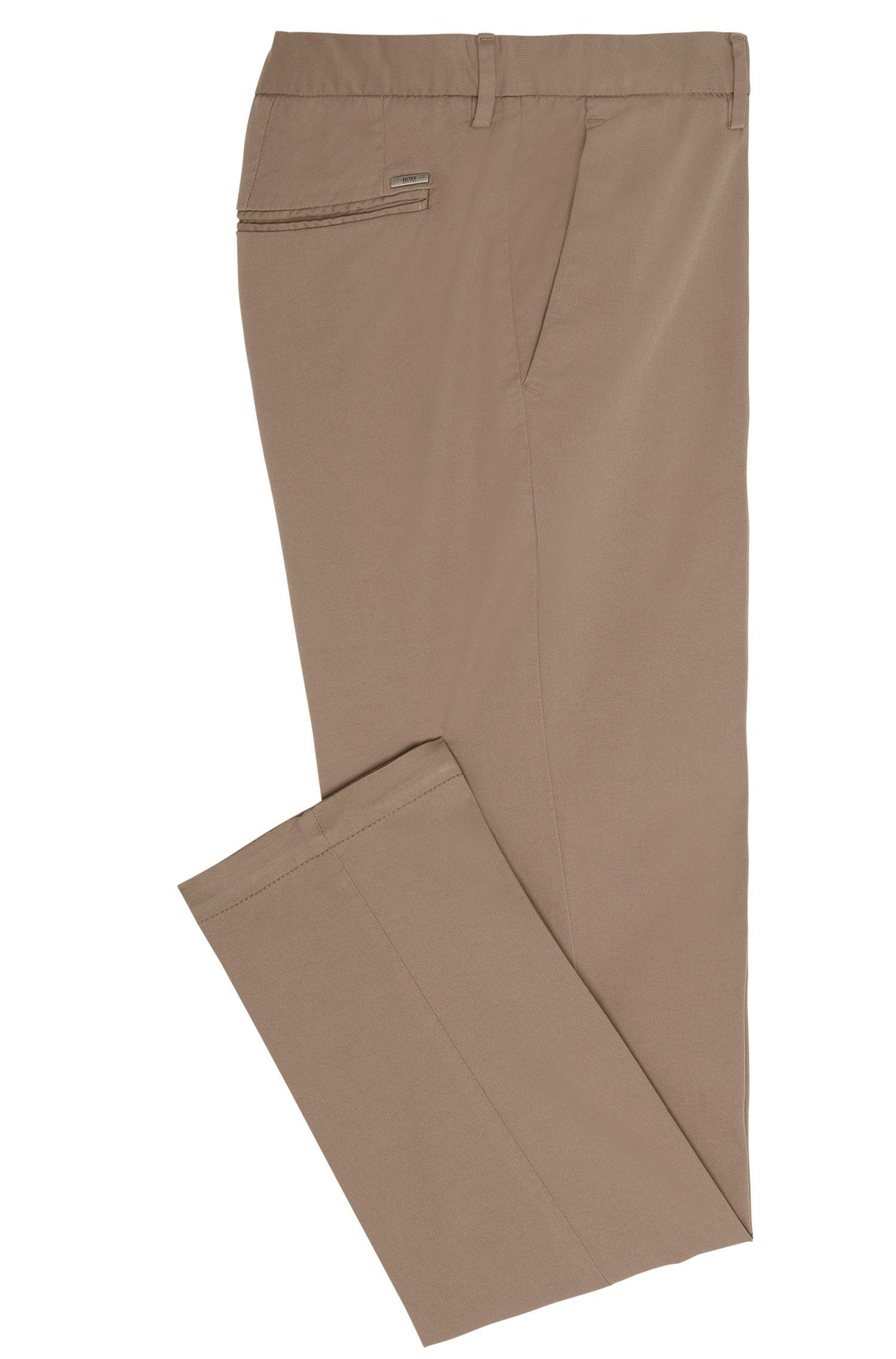 Pantalon Uni Tapered Fit en coton stretch: «Kaito3-D»