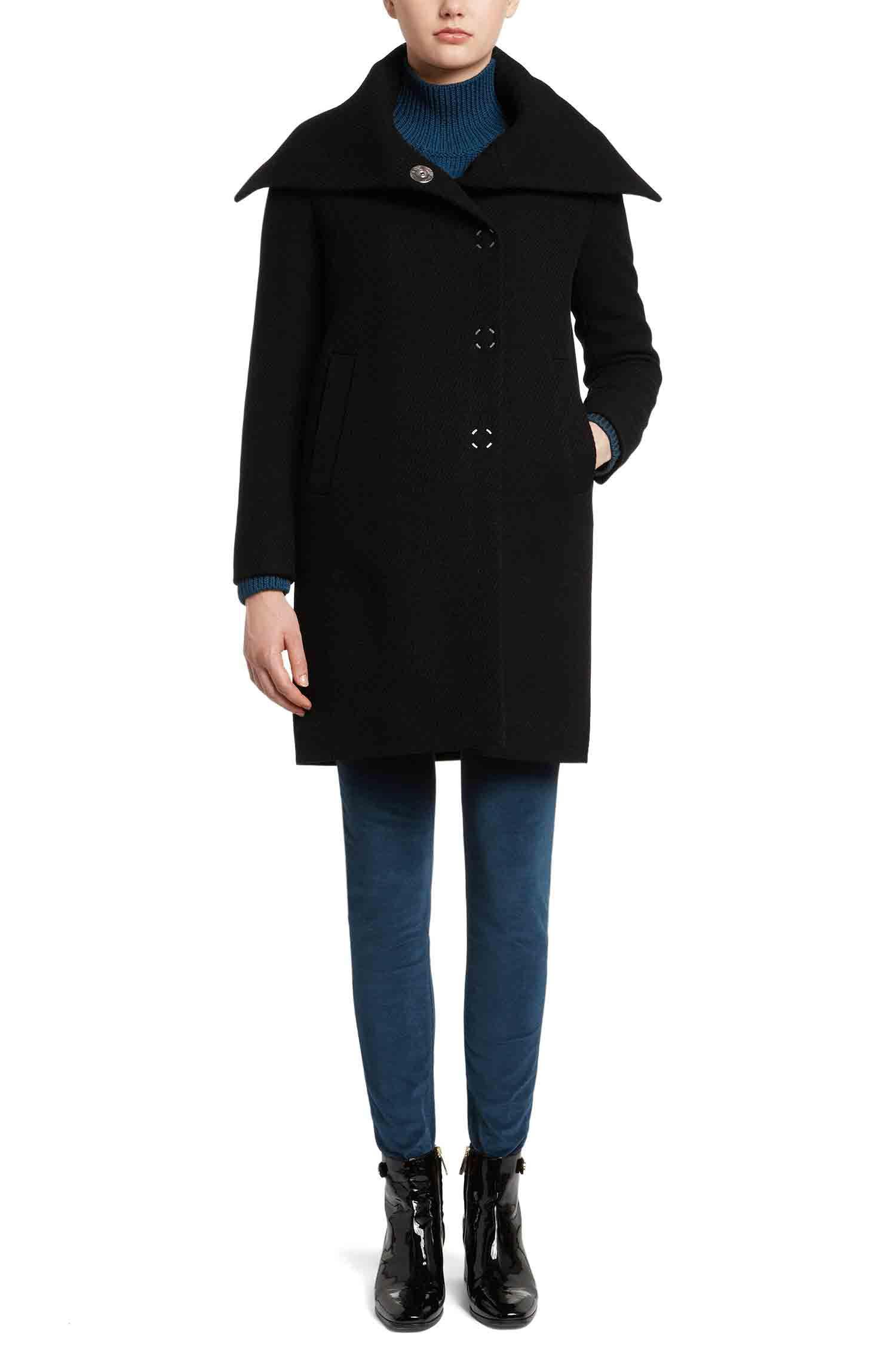 Manteau Straight Fit en laine mélangée: «Motonas»