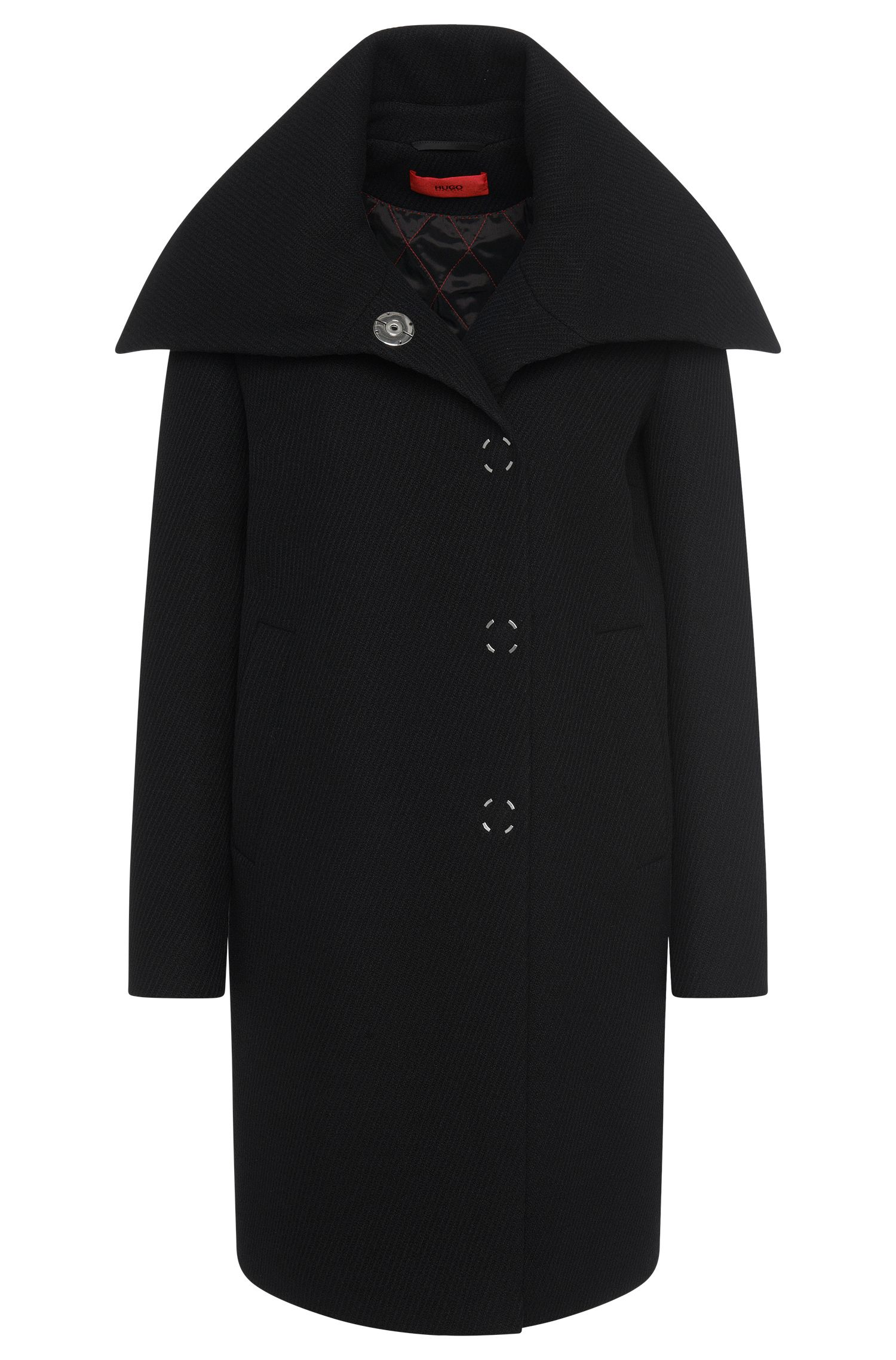 Cappotto straight fit in misto lana: 'Motonas'