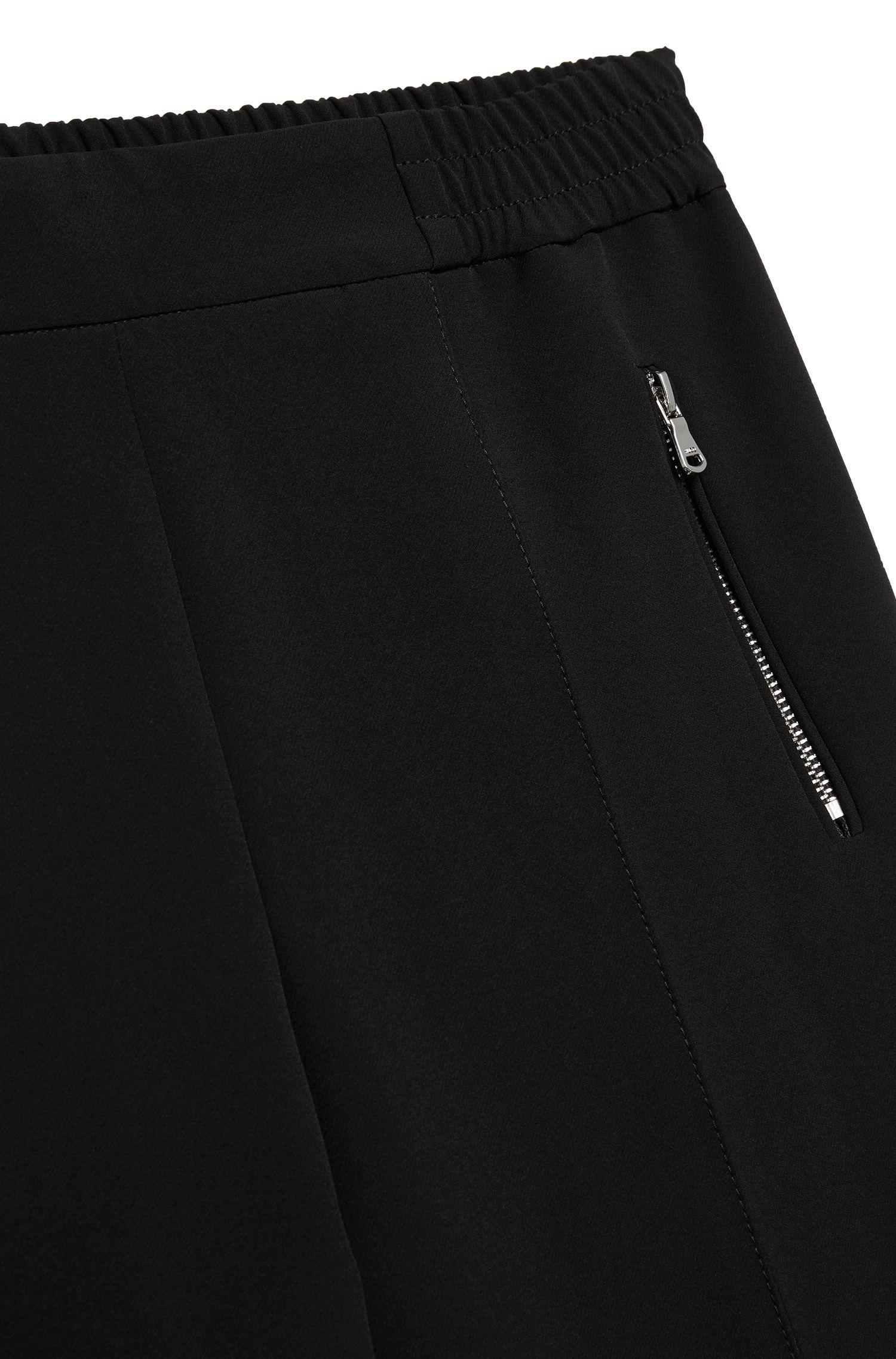 Hoch taillierte Hose mit Gummizugbund: 'Himoni'