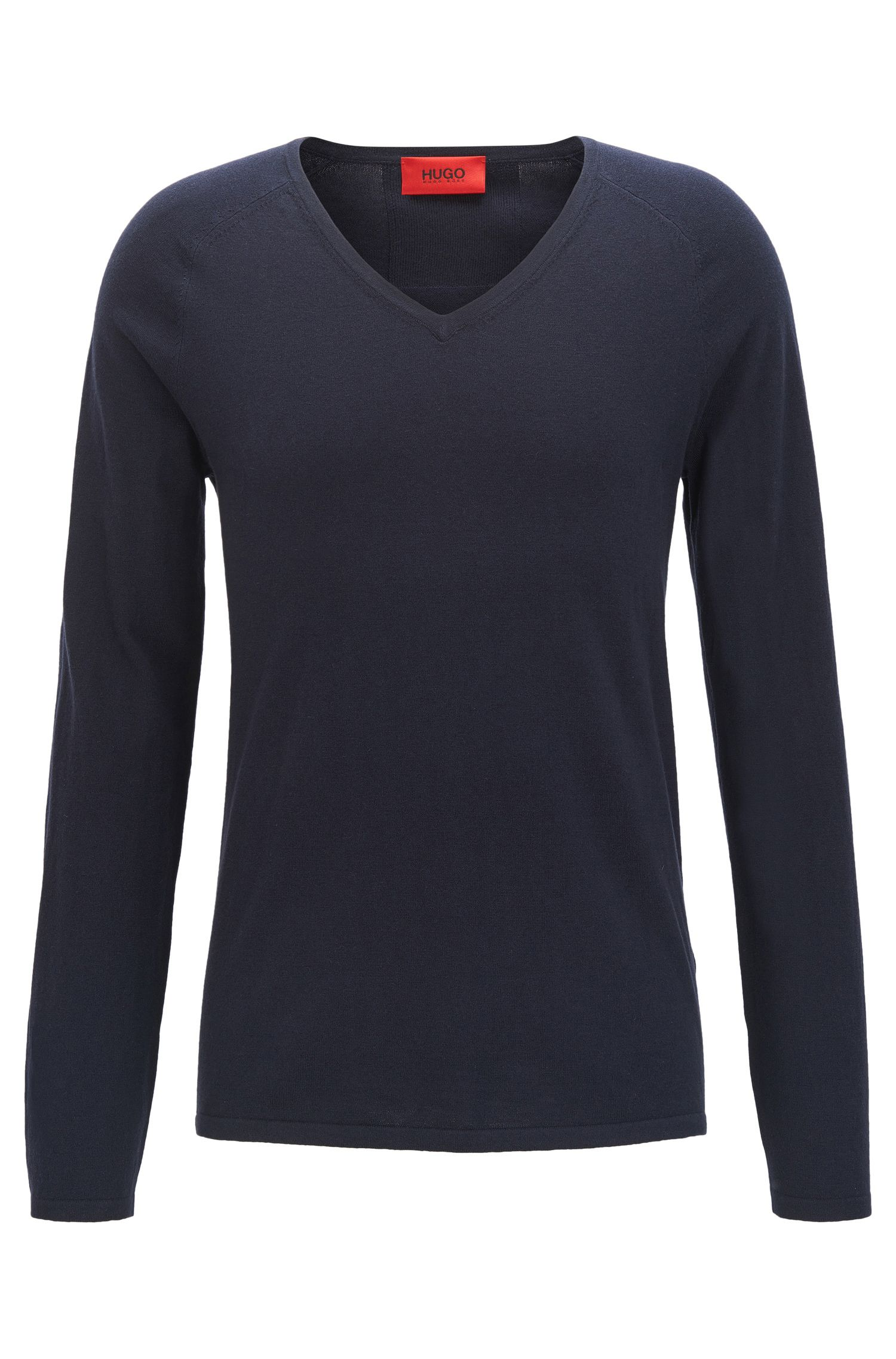 Sweater in a cotton blend with silk and cashmere: 'San Jose'