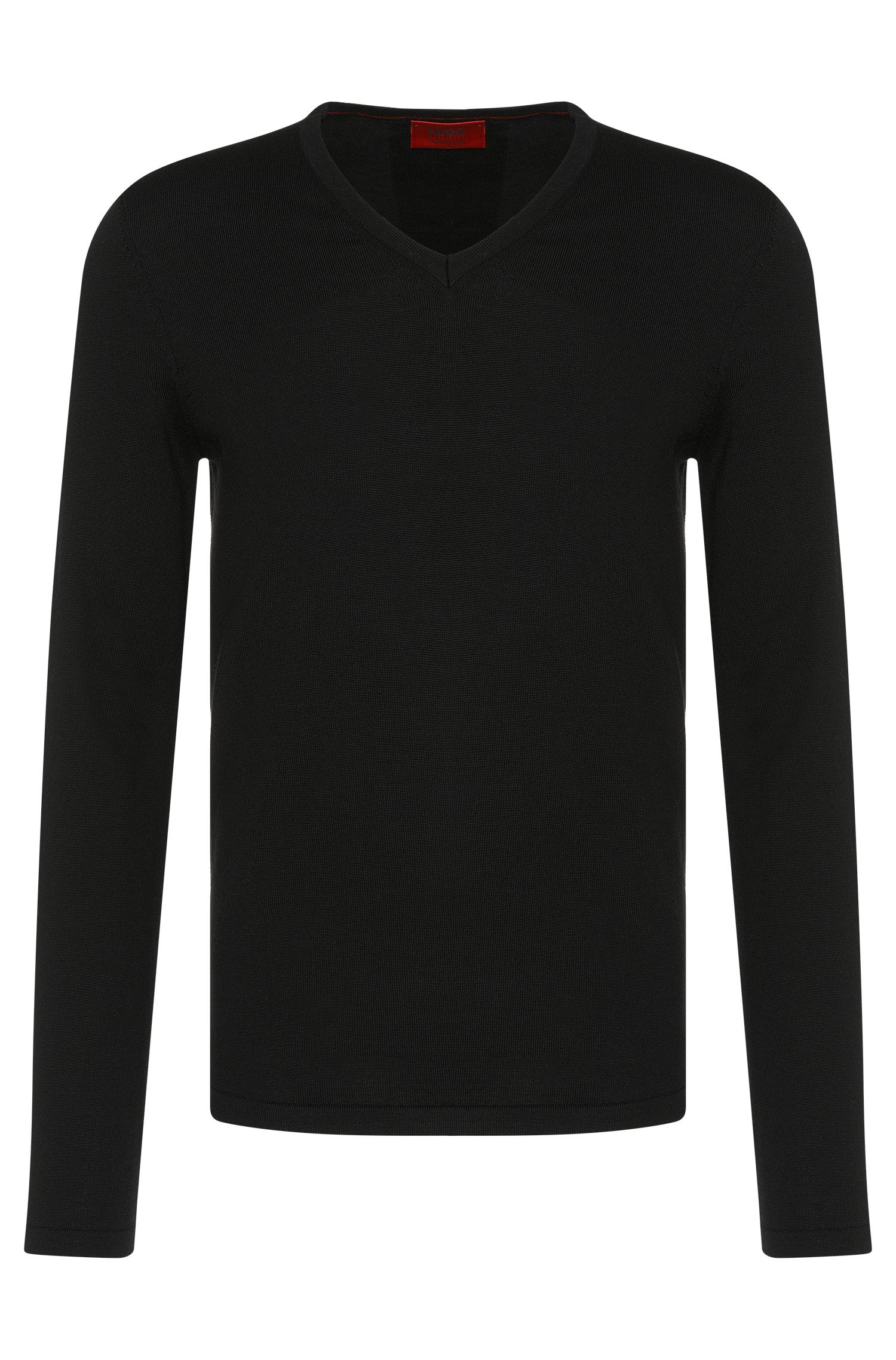 Comfort-fit sweater in pure new wool: 'San Bernardo'