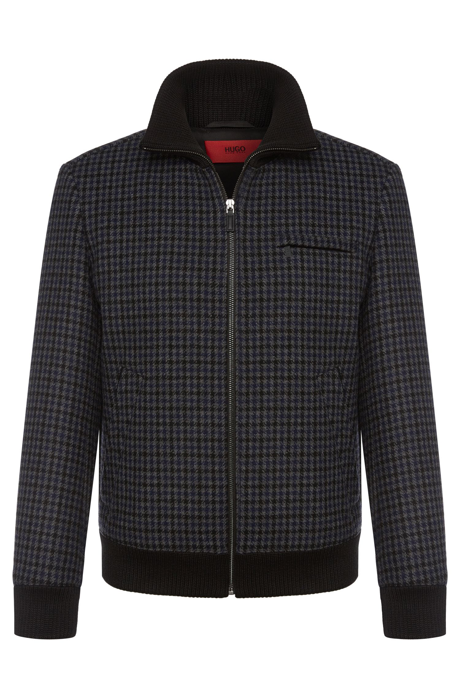 Checked jacket in wool blend: 'Belvor'
