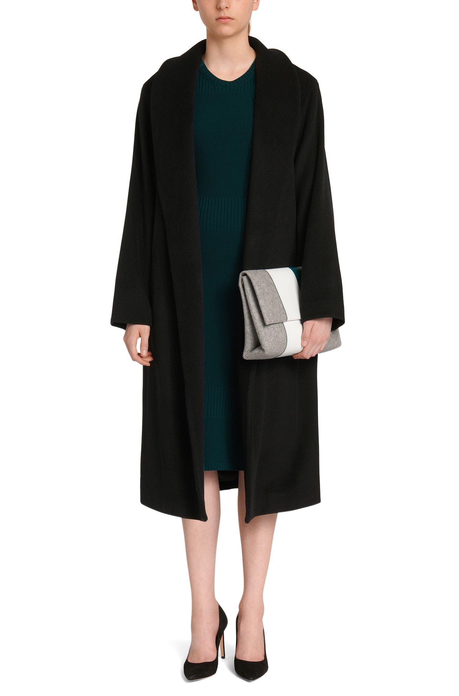 Robe en viscose mélangée ornée de différents motifs en maille: «Fahda»