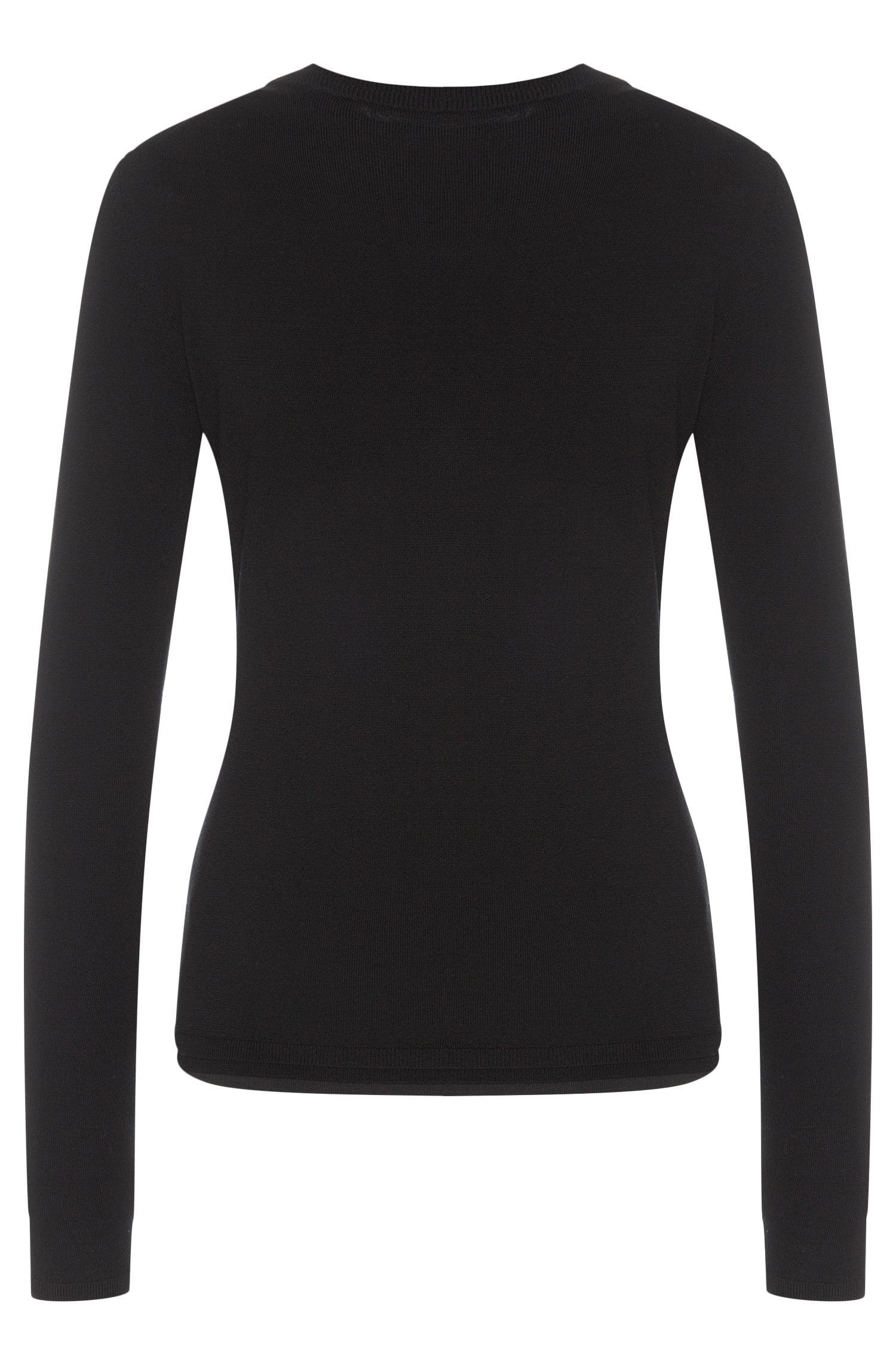 Unifarbener Pullover aus reiner Schurwolle: 'Fabrisia'