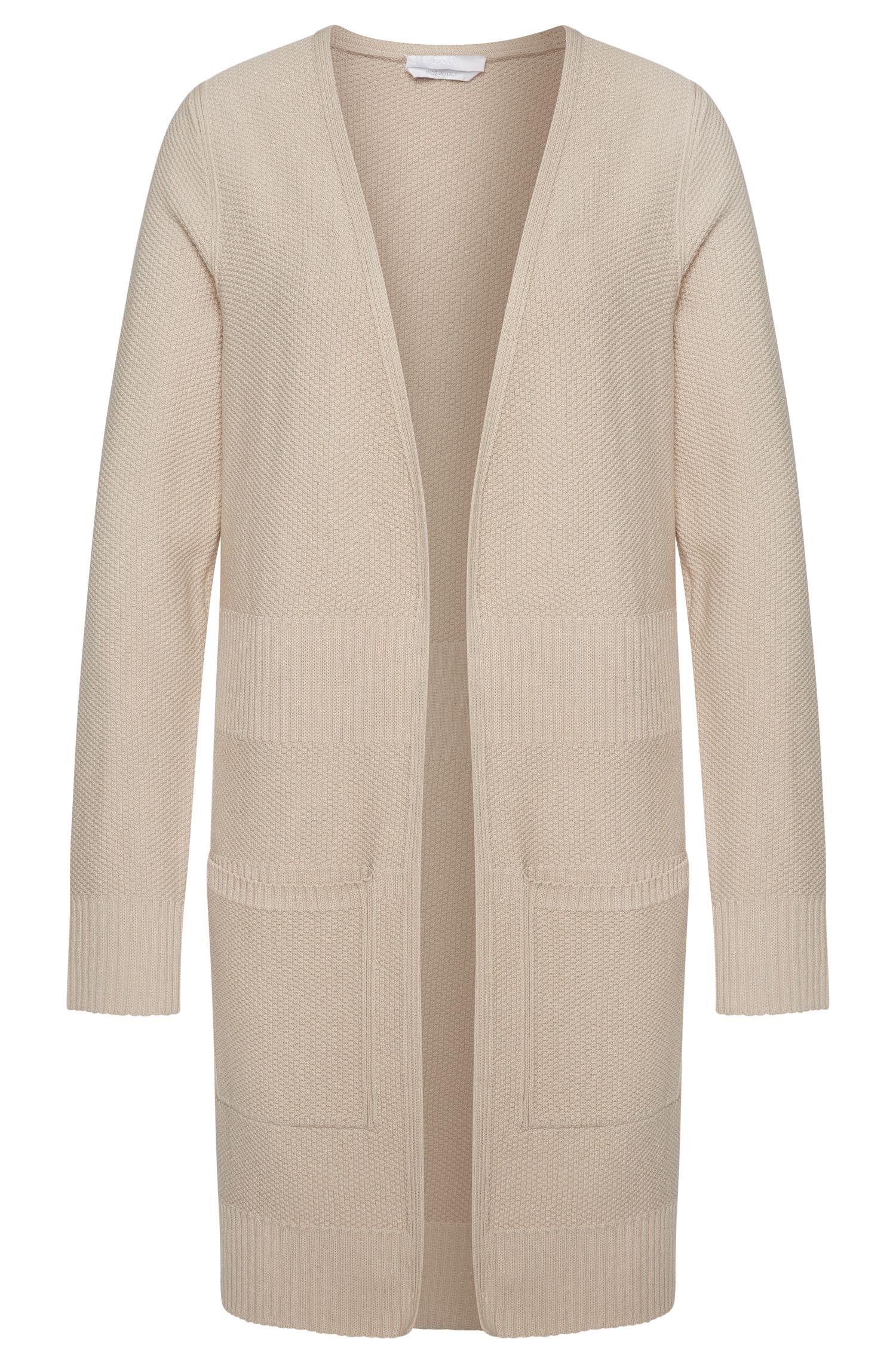 Longue veste en maille en viscose mélangée: «Fahima»