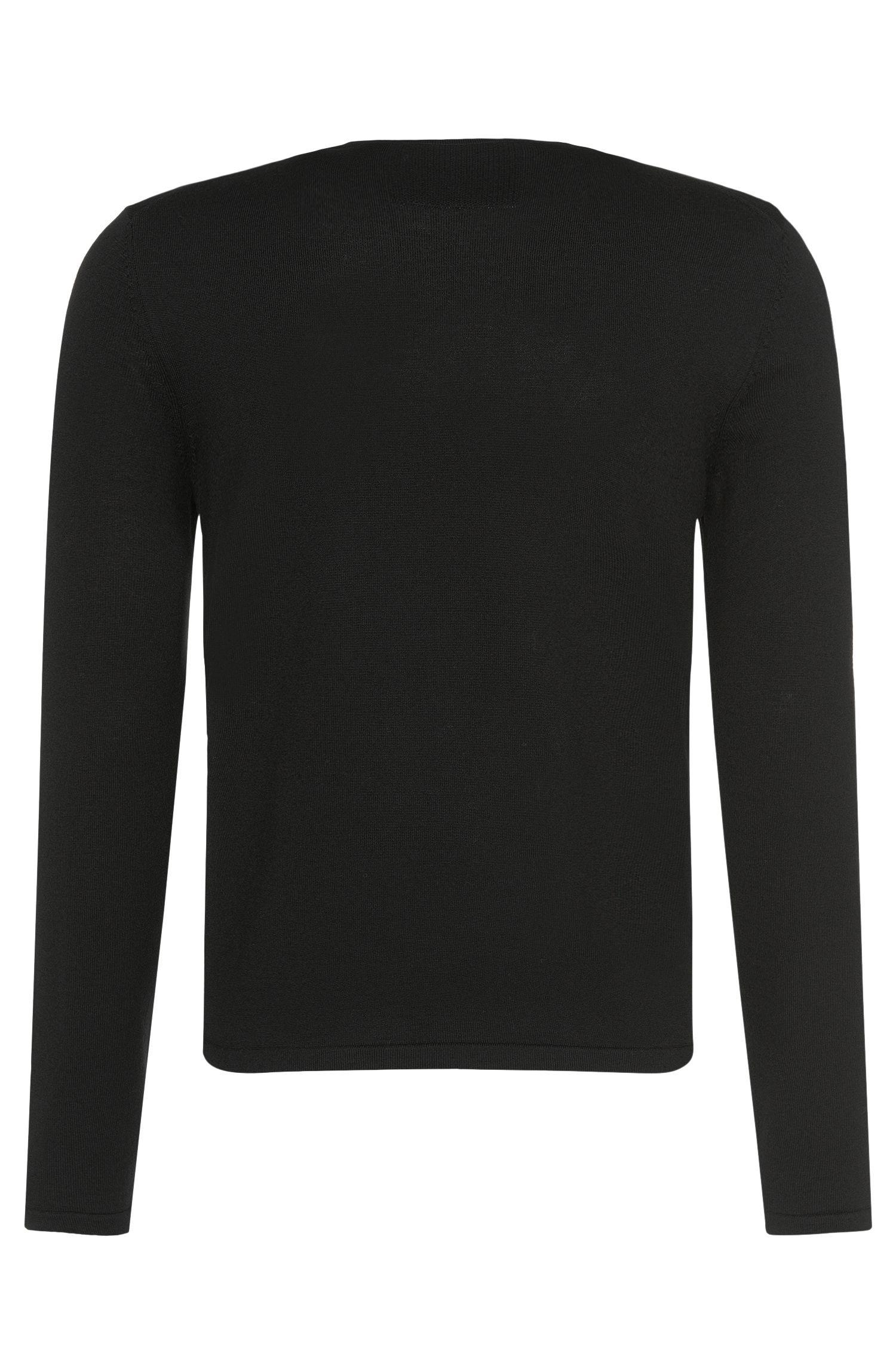 Unifarbener Pullover aus Schurwolle: 'San Paolo'