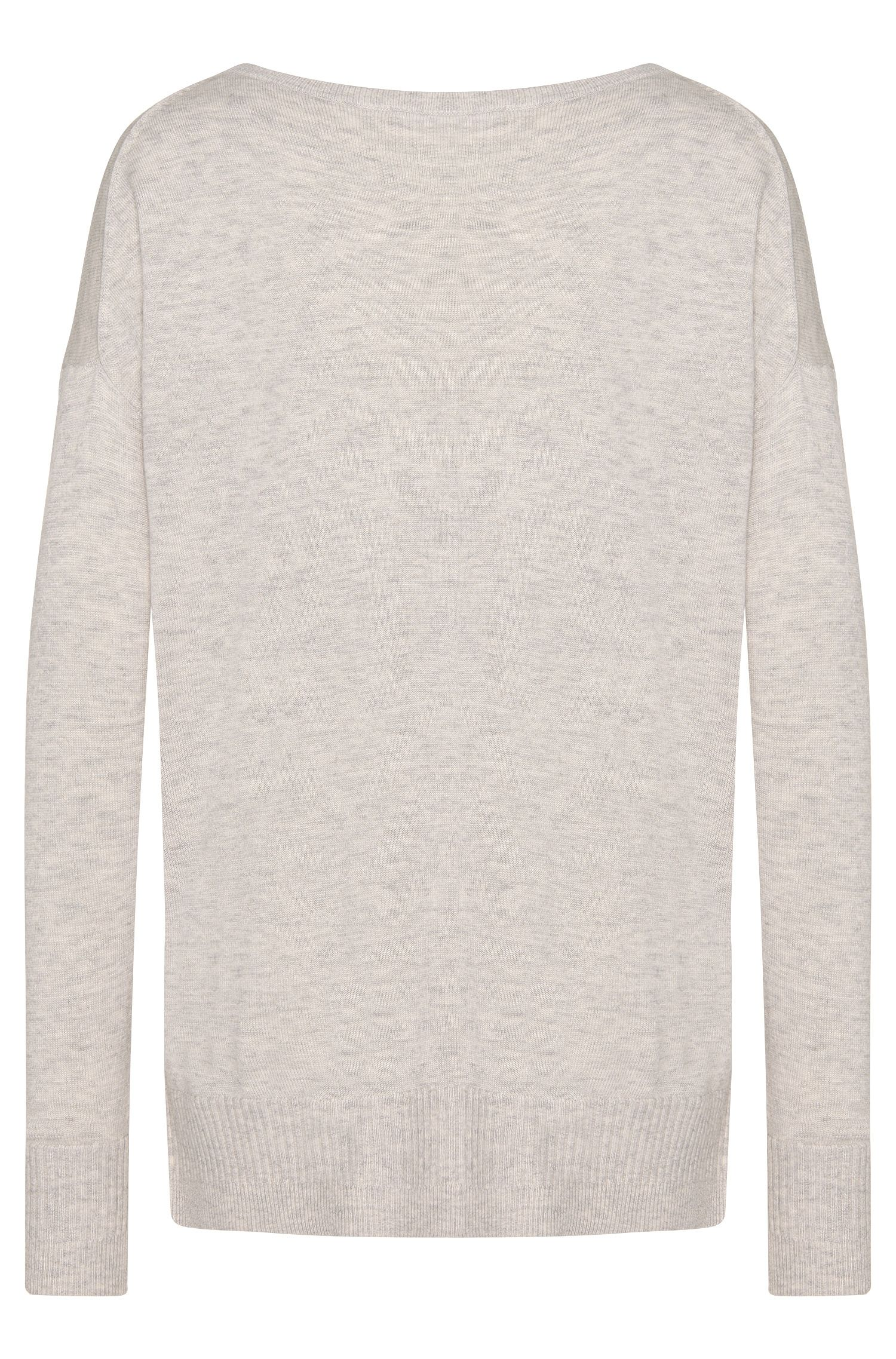 Pull en laine vierge mélangée, avec du cachemire: «Farga»
