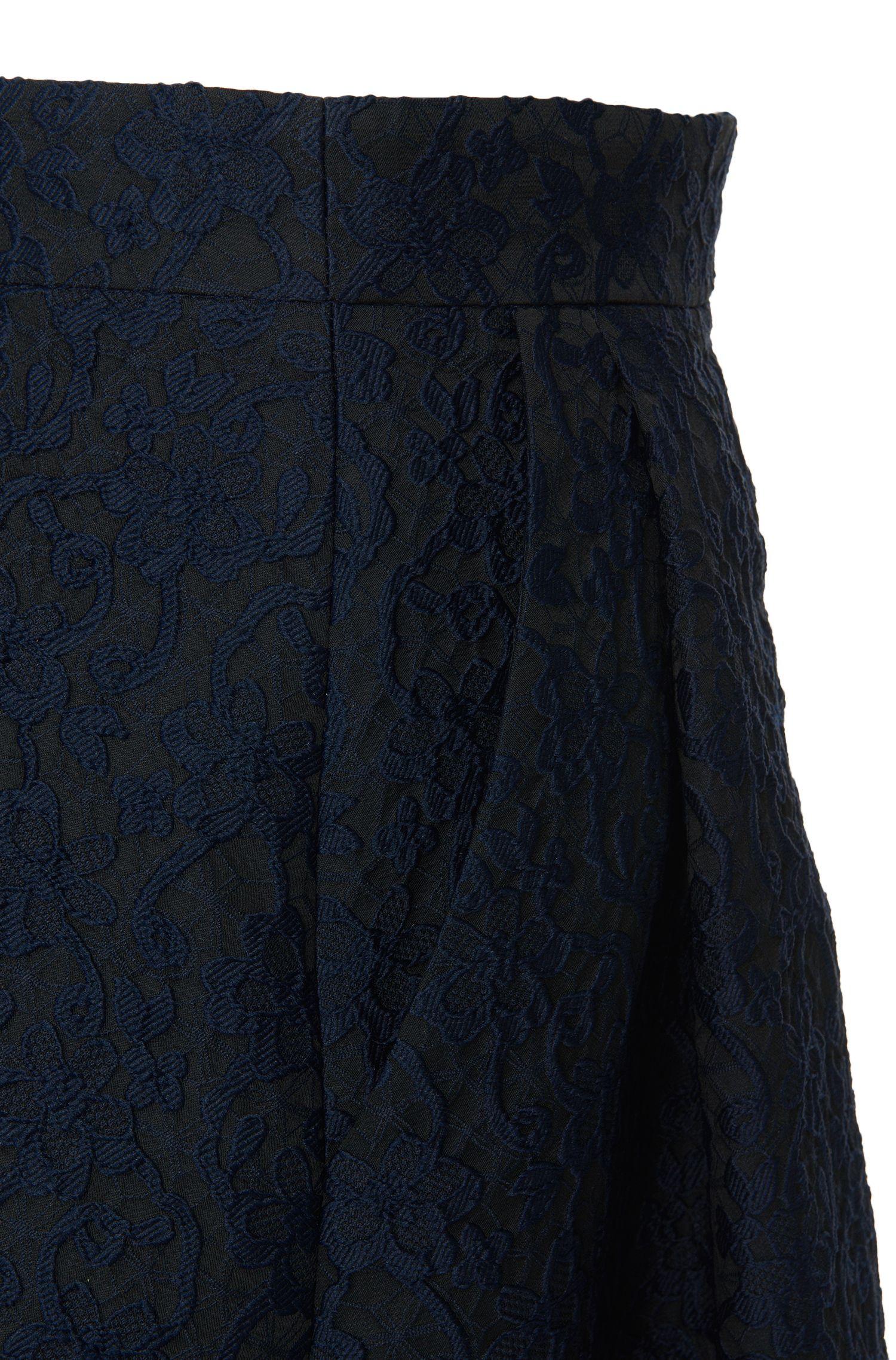 Jupe taille haute à motif floral: «Rizalia»