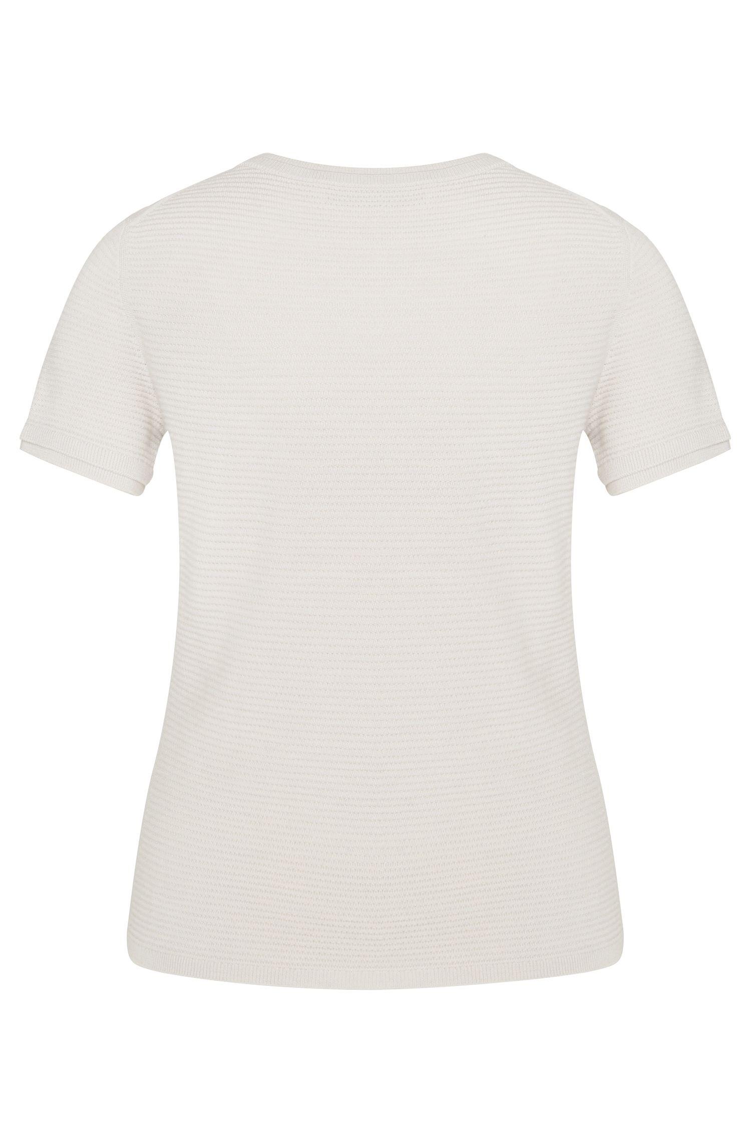 Kurzarm-Pullover aus reiner Schurwolle: 'Fadri'Pullover aus Schurwolle mit kurzen Ärmeln: 'Fadri'