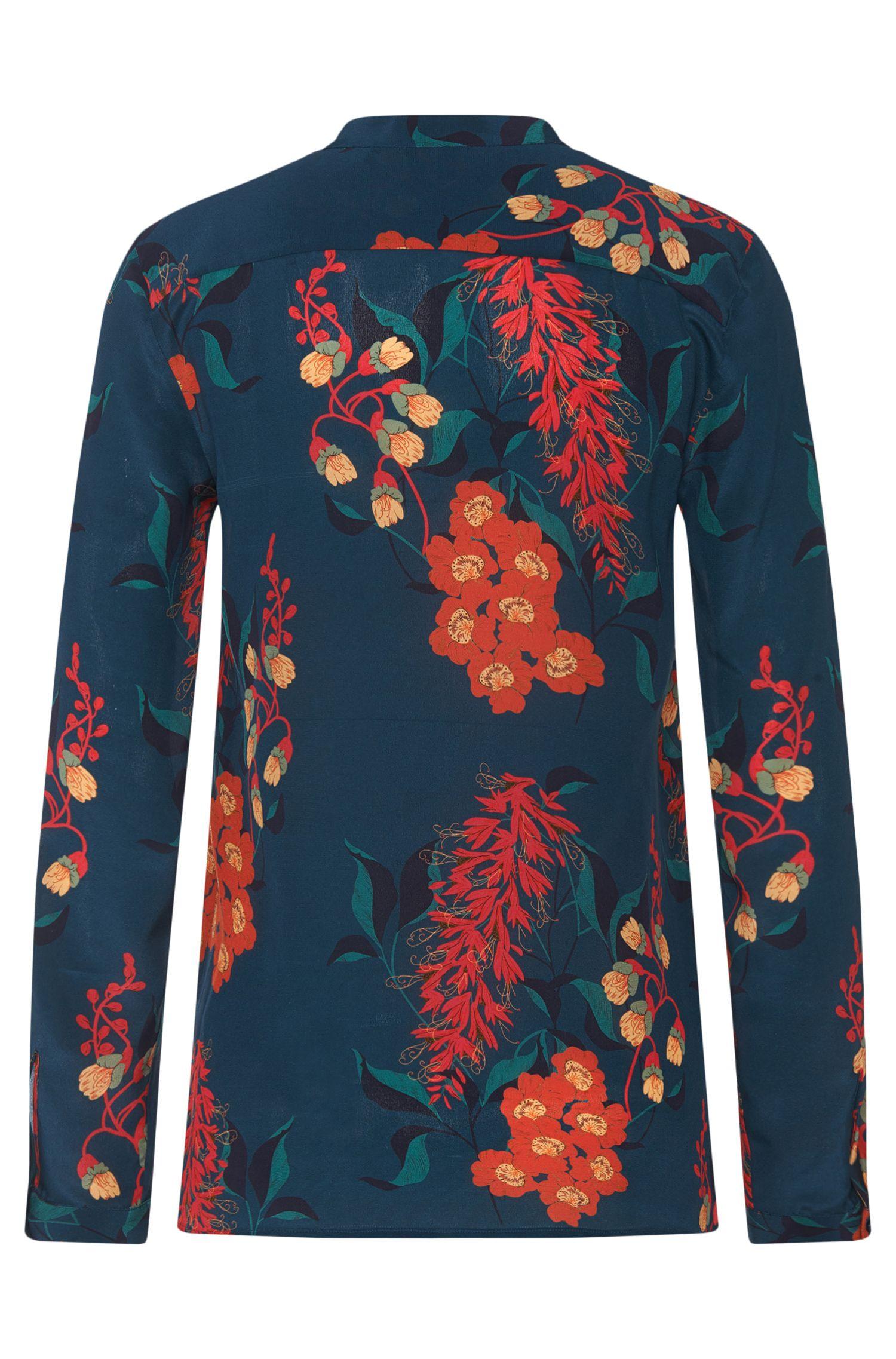 Seidenbluse mit floralem Muster: 'Ennysa'