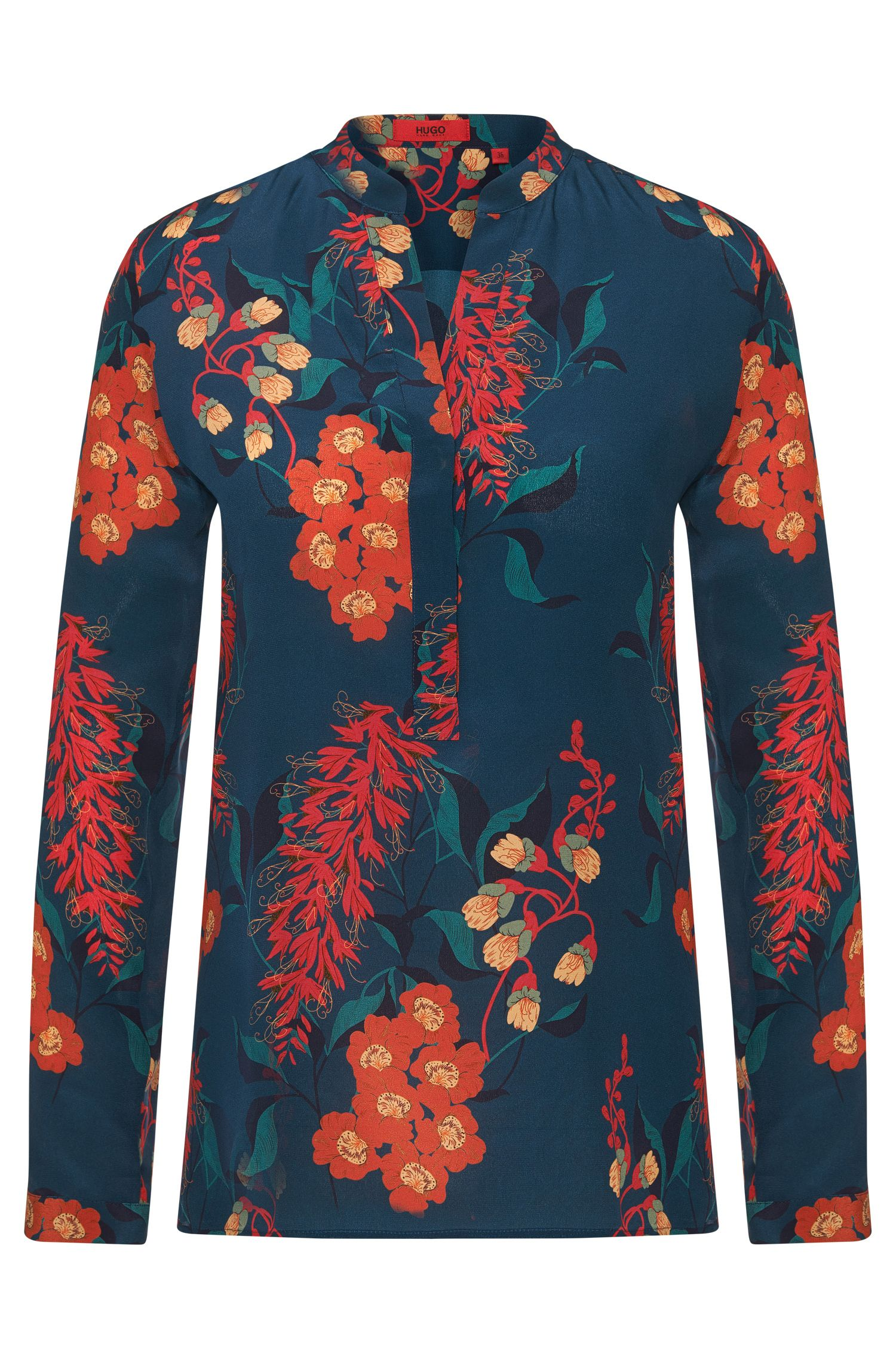 Silk blouse with floral pattern: 'Ennysa'