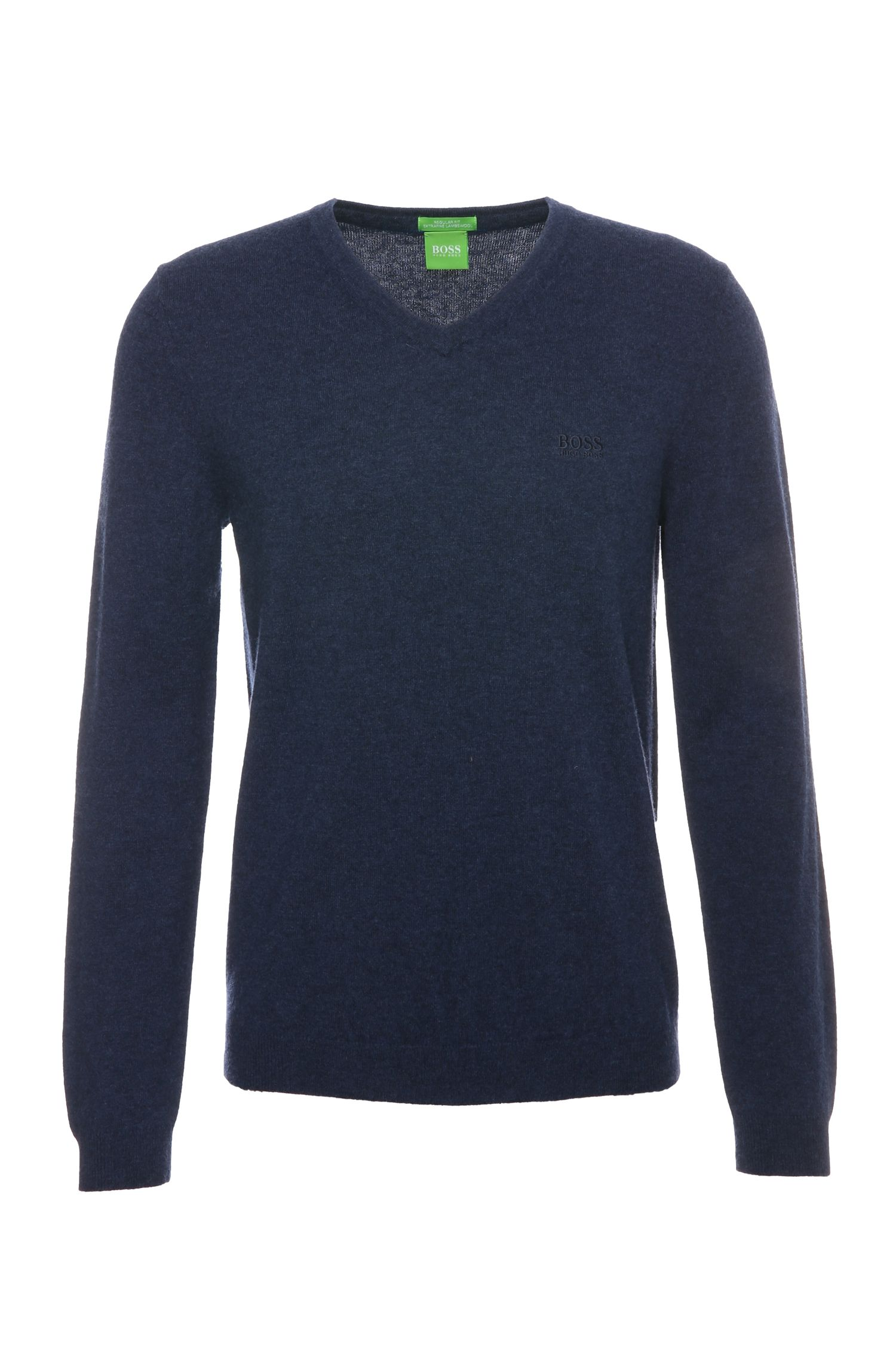 Knitted regular-fit sweater in wool: 'C-Celino_01'